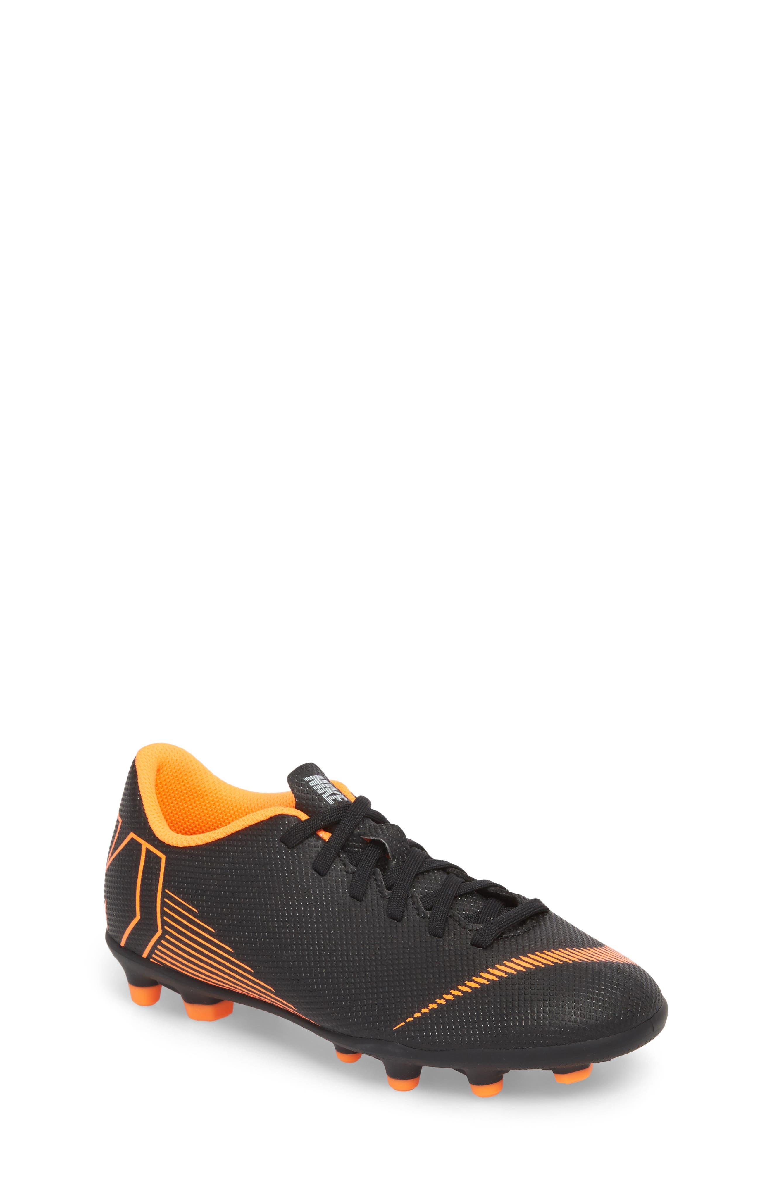 Vapor XII Club Multi Ground Soccer Shoe,                         Main,                         color, Black/ Total Orange/ White