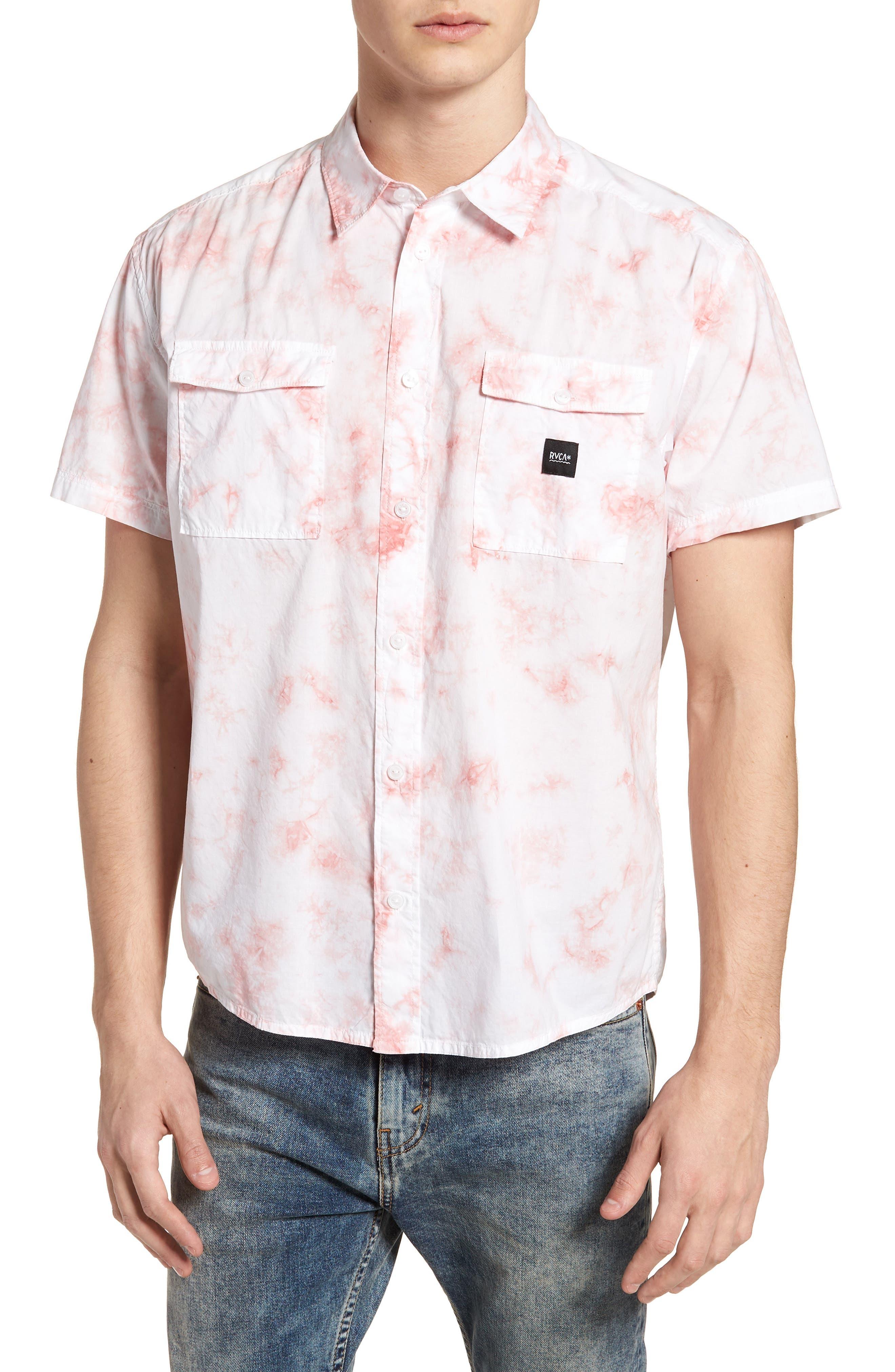 Destroy Woven Shirt,                         Main,                         color, Terracotta
