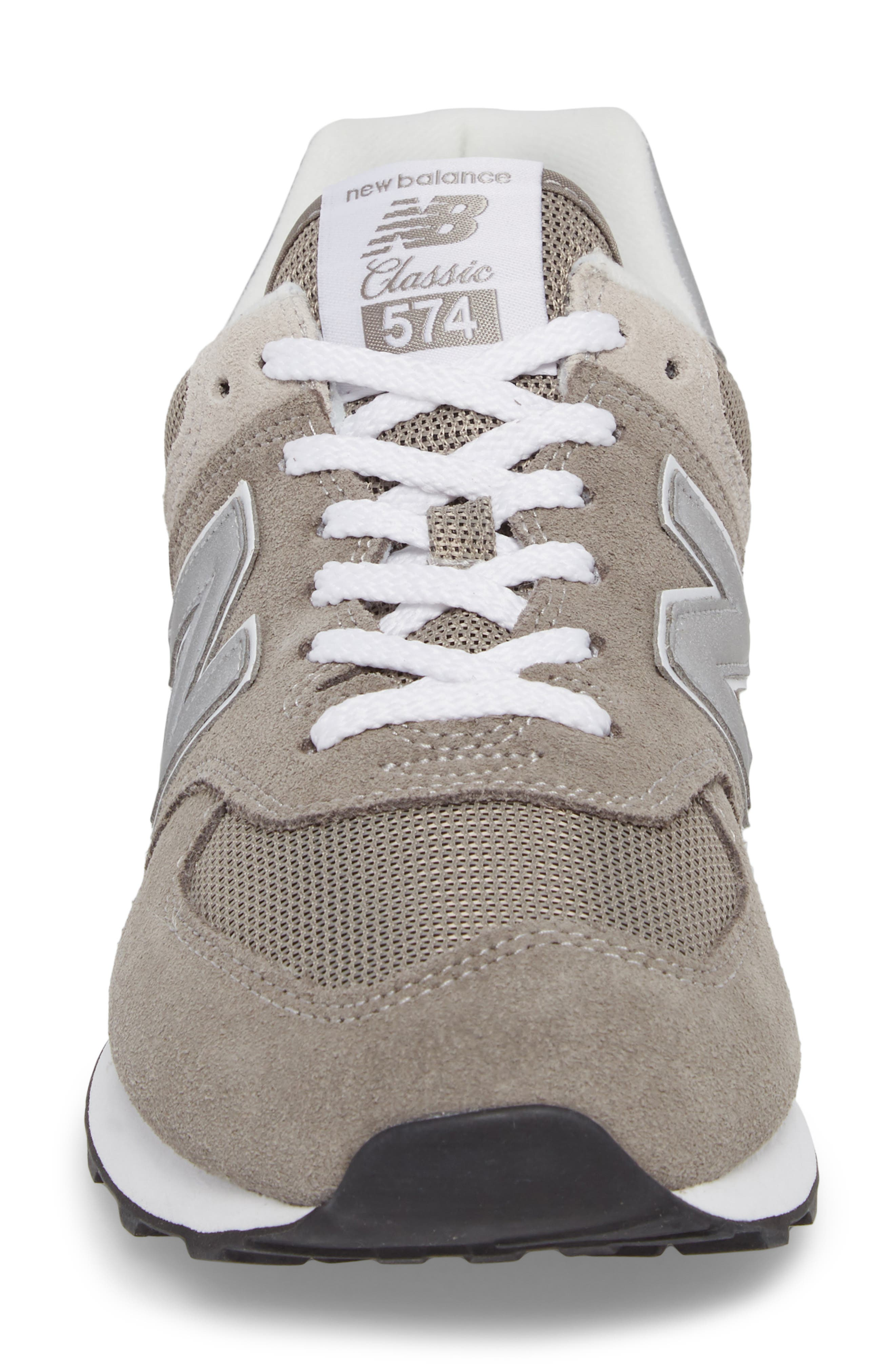 574 Classic Sneaker,                             Alternate thumbnail 4, color,                             Grey