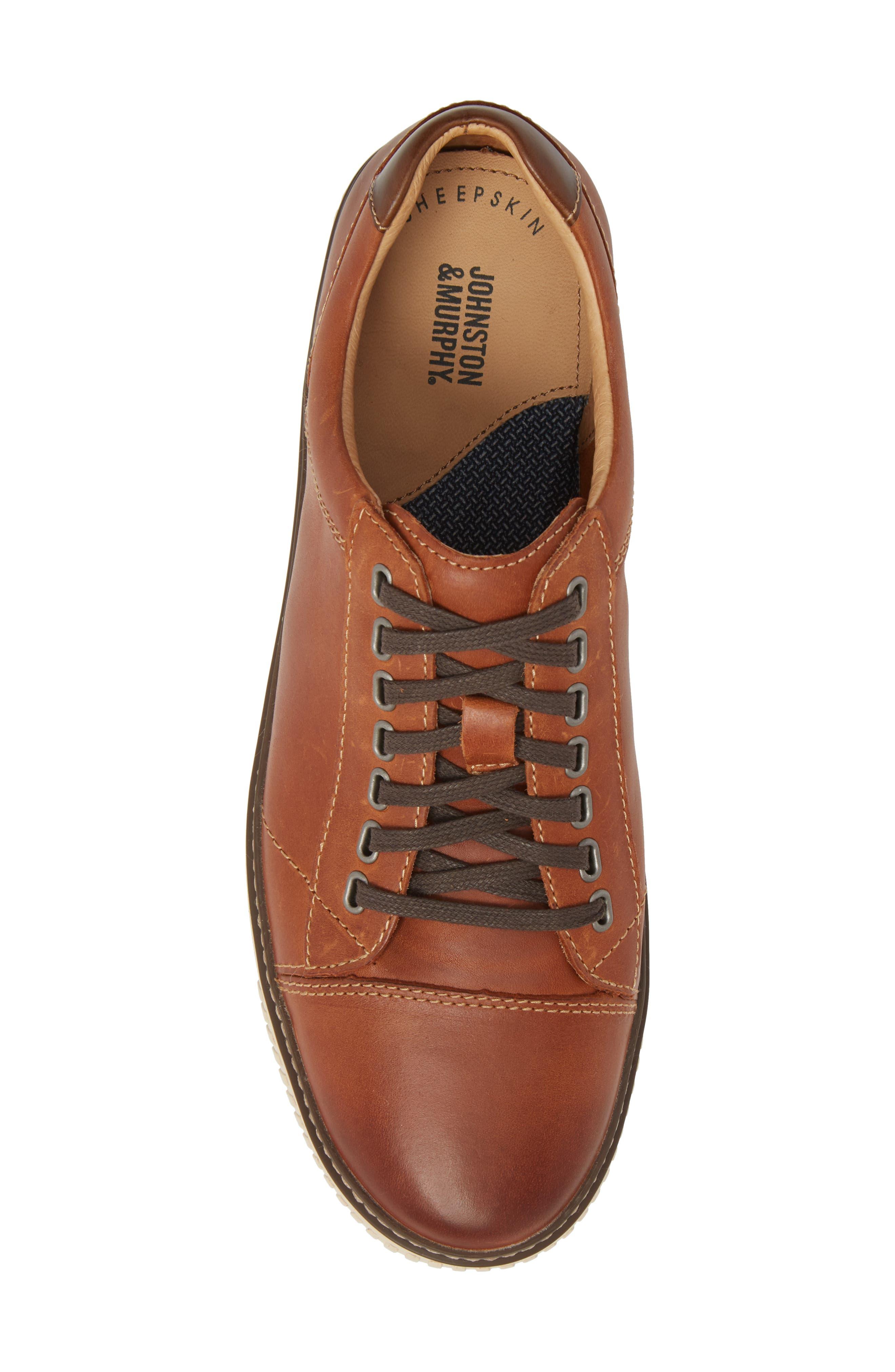 Wallace Low Top Sneaker,                             Alternate thumbnail 5, color,                             Tan Nubuck