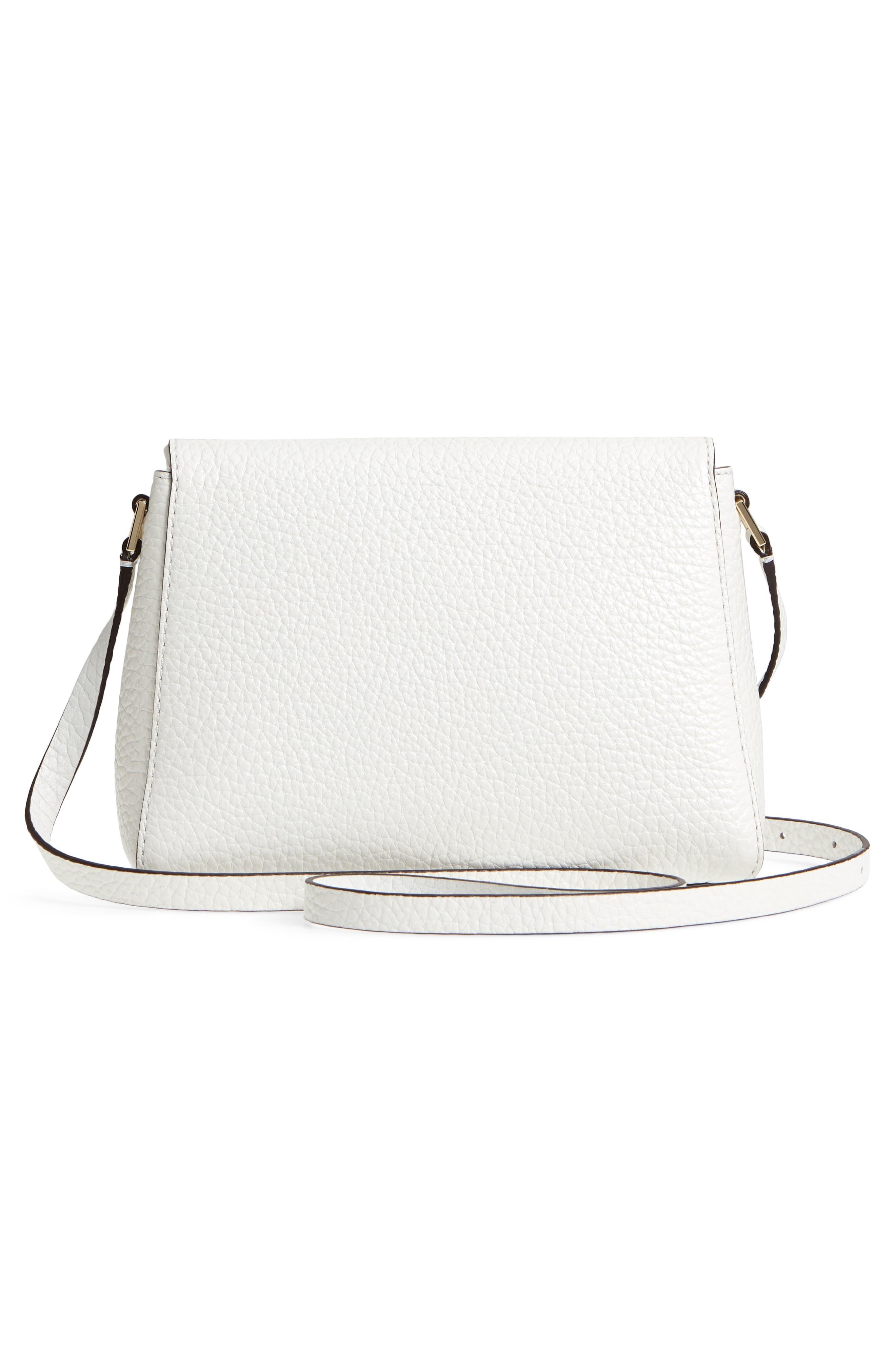 carter street - berrin leather crossbody bag,                             Alternate thumbnail 3, color,                             Bright White