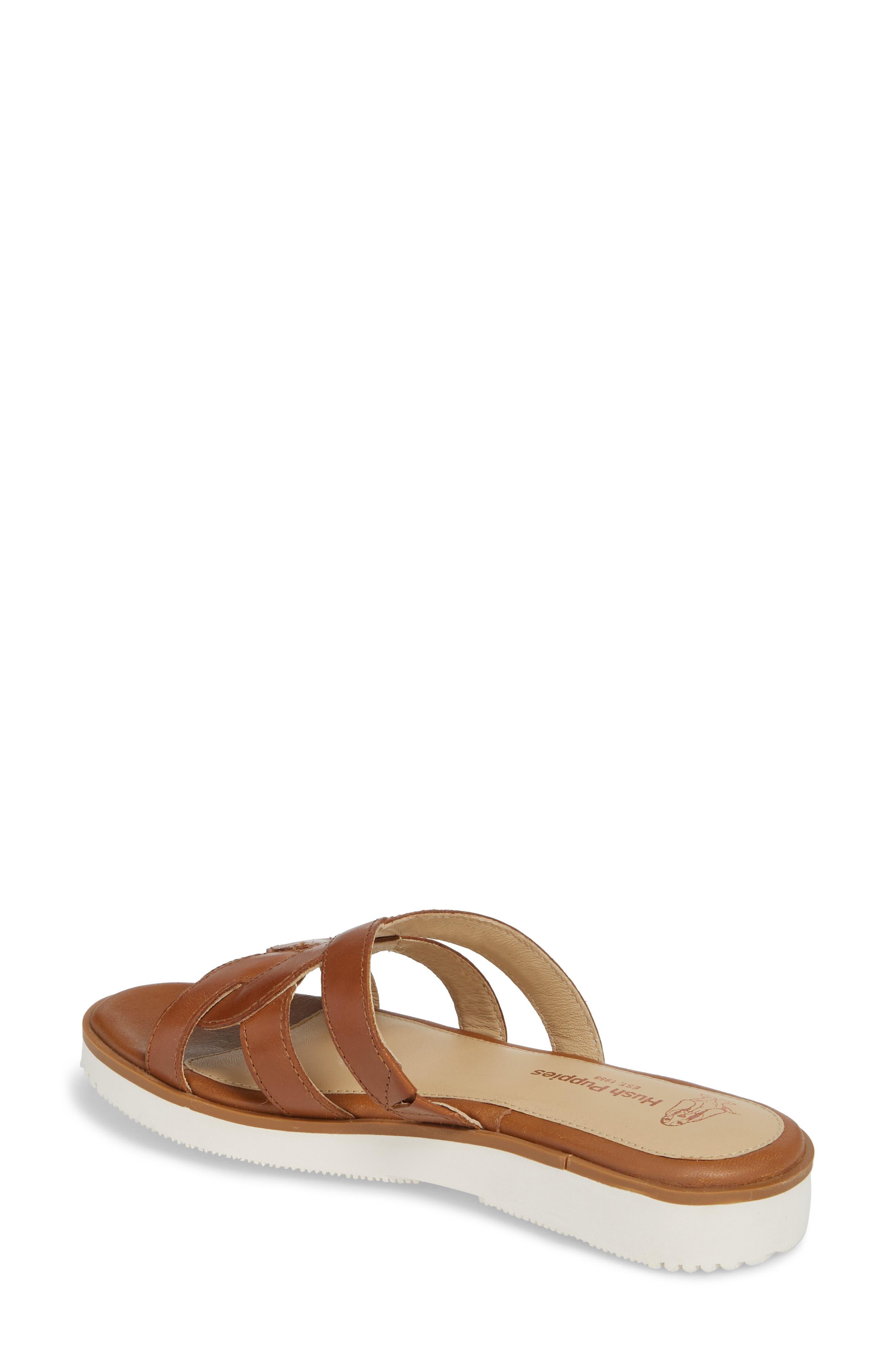 Braid Slide Sandal,                             Alternate thumbnail 2, color,                             Tan Leather