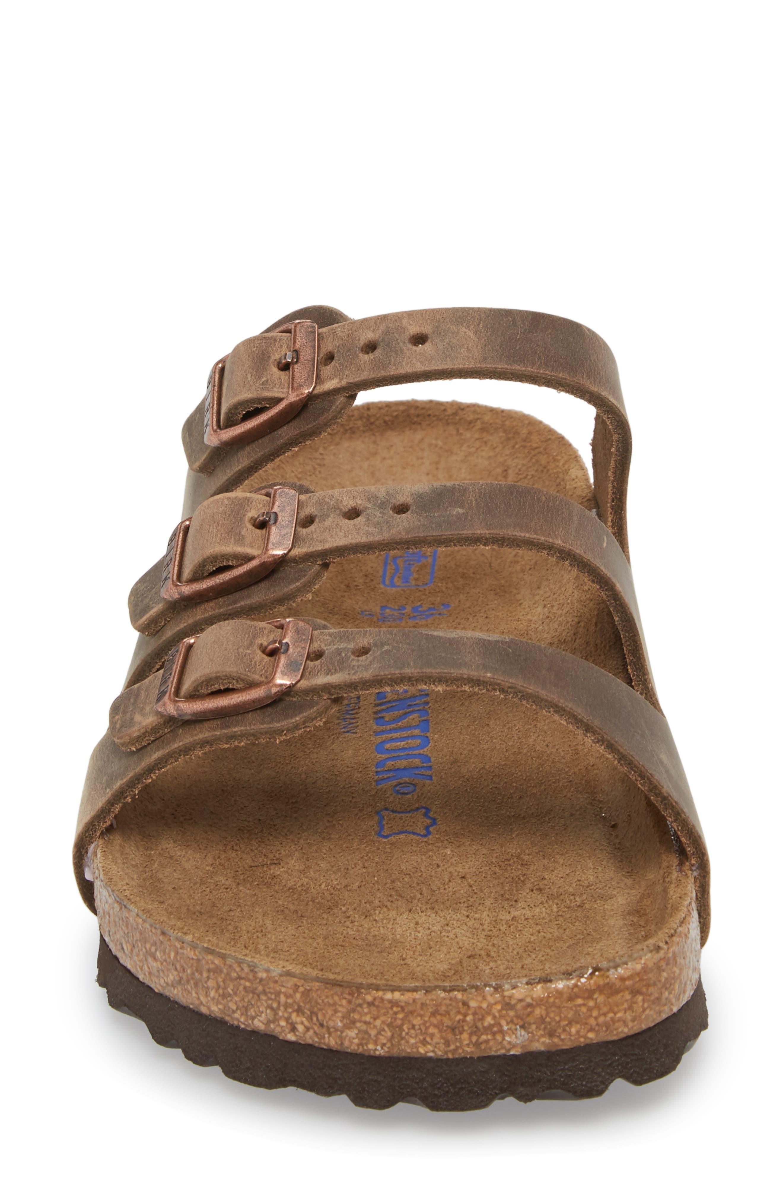 Florida Sandal,                             Alternate thumbnail 4, color,                             Tobacco Oiled Leather