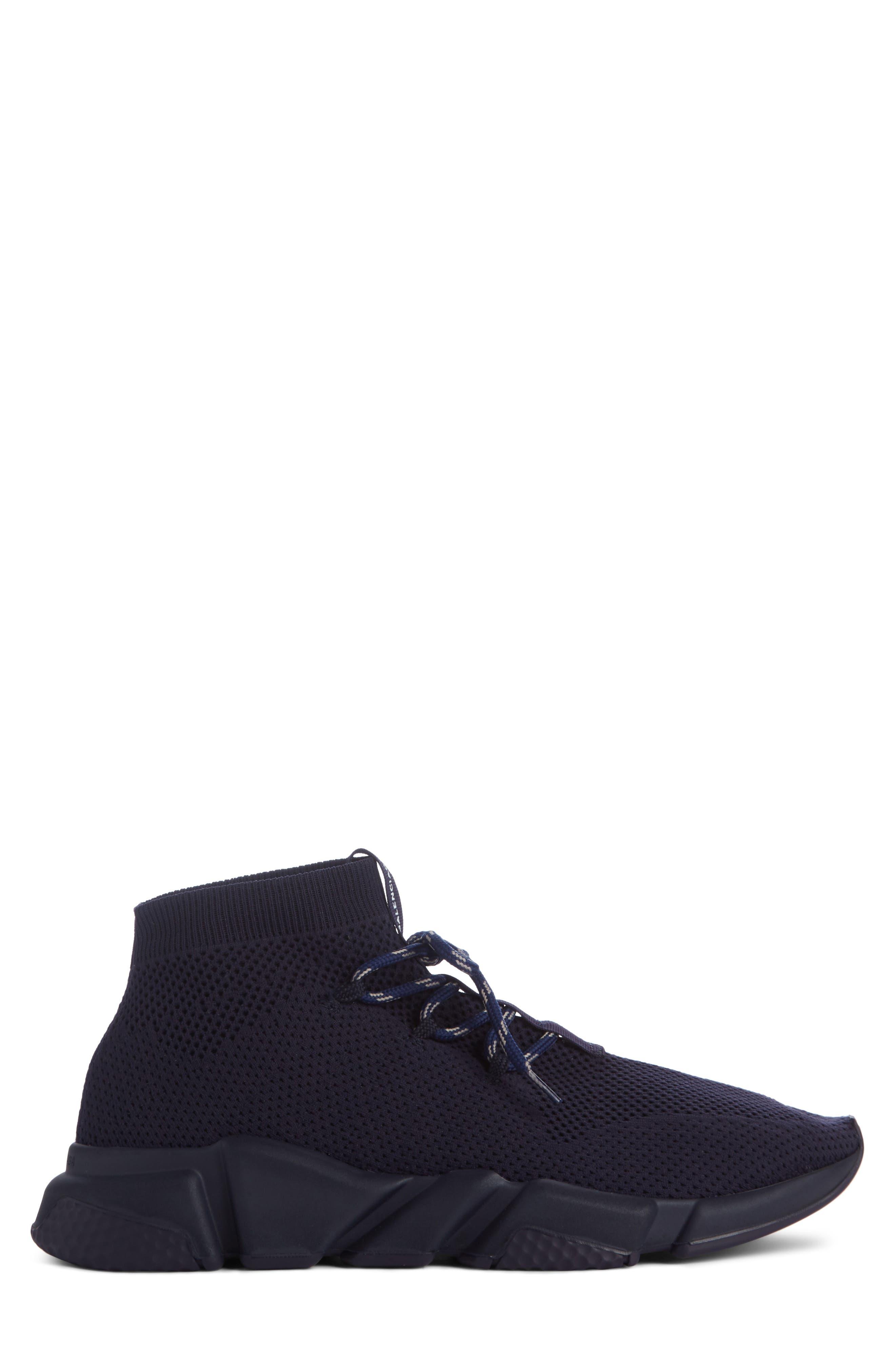 Mid-Top Sneaker,                             Alternate thumbnail 3, color,                             Blue Marine/Blanc White