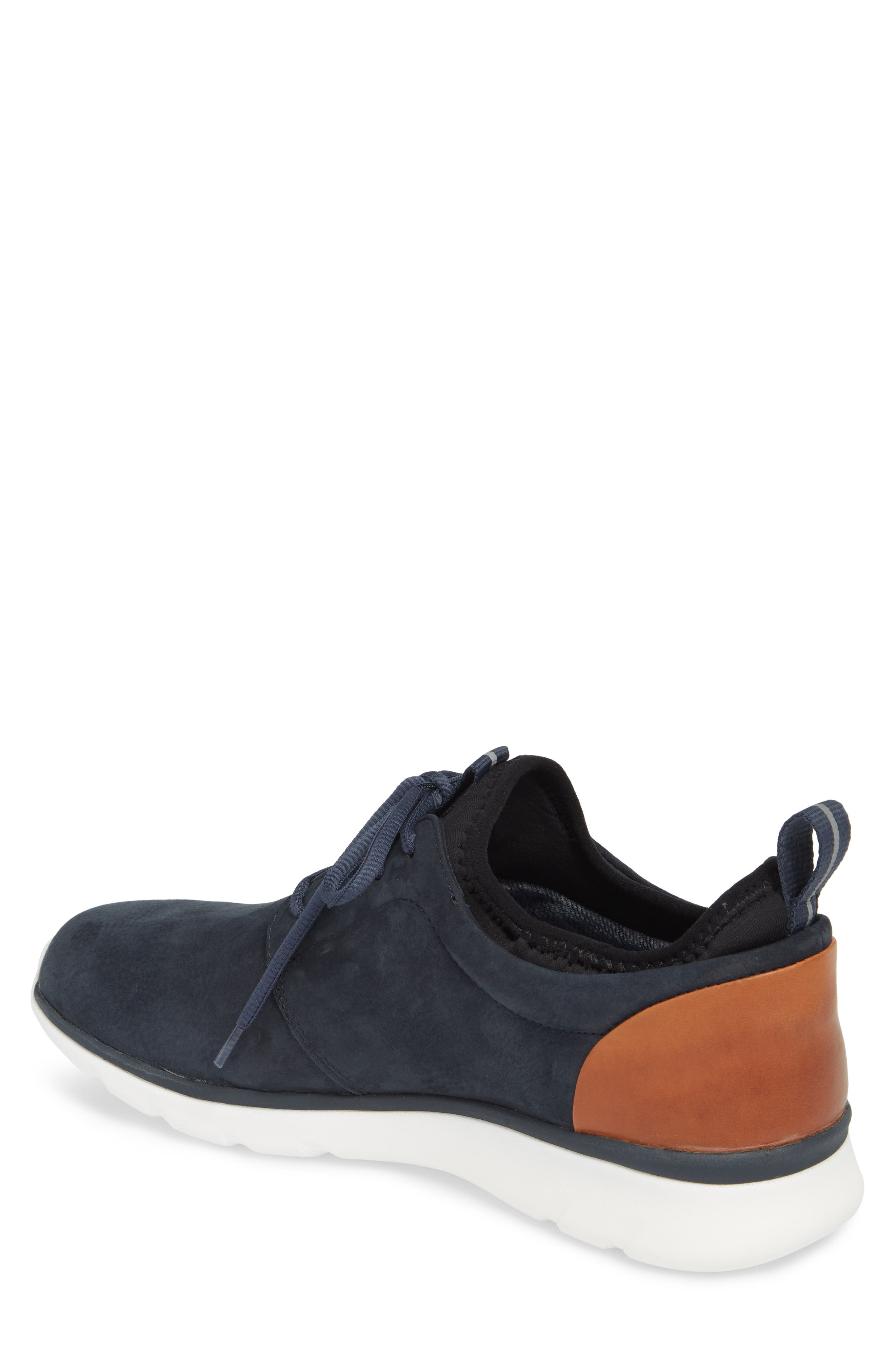 Prentiss XC4<sup>®</sup> Waterproof Low Top Sneaker,                             Alternate thumbnail 2, color,                             Navy Nubuck