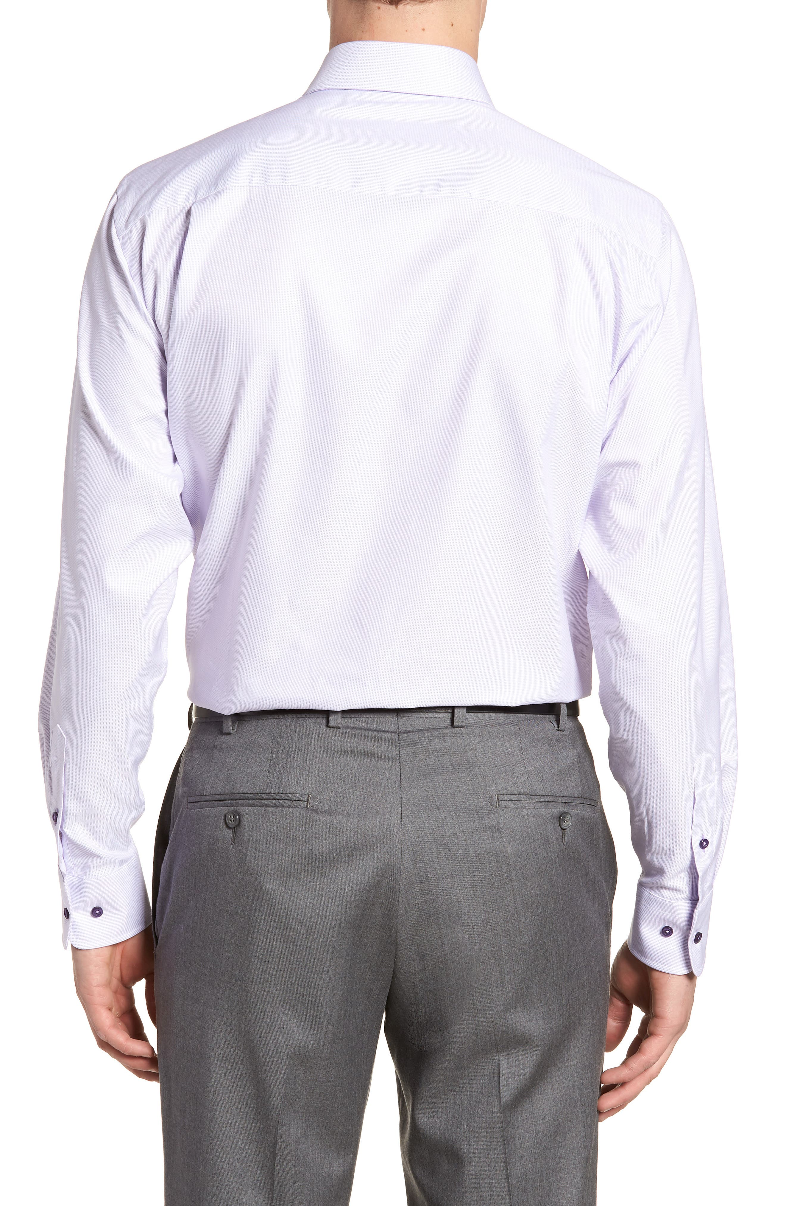 Regular Fit Solid Dress Shirt,                             Alternate thumbnail 3, color,                             Lilac