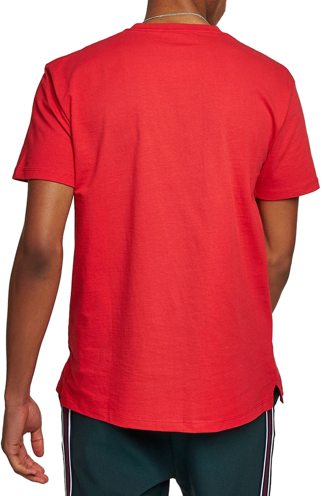 Oversize Embroidered Thanks T-Shirt,                             Alternate thumbnail 2, color,                             Red