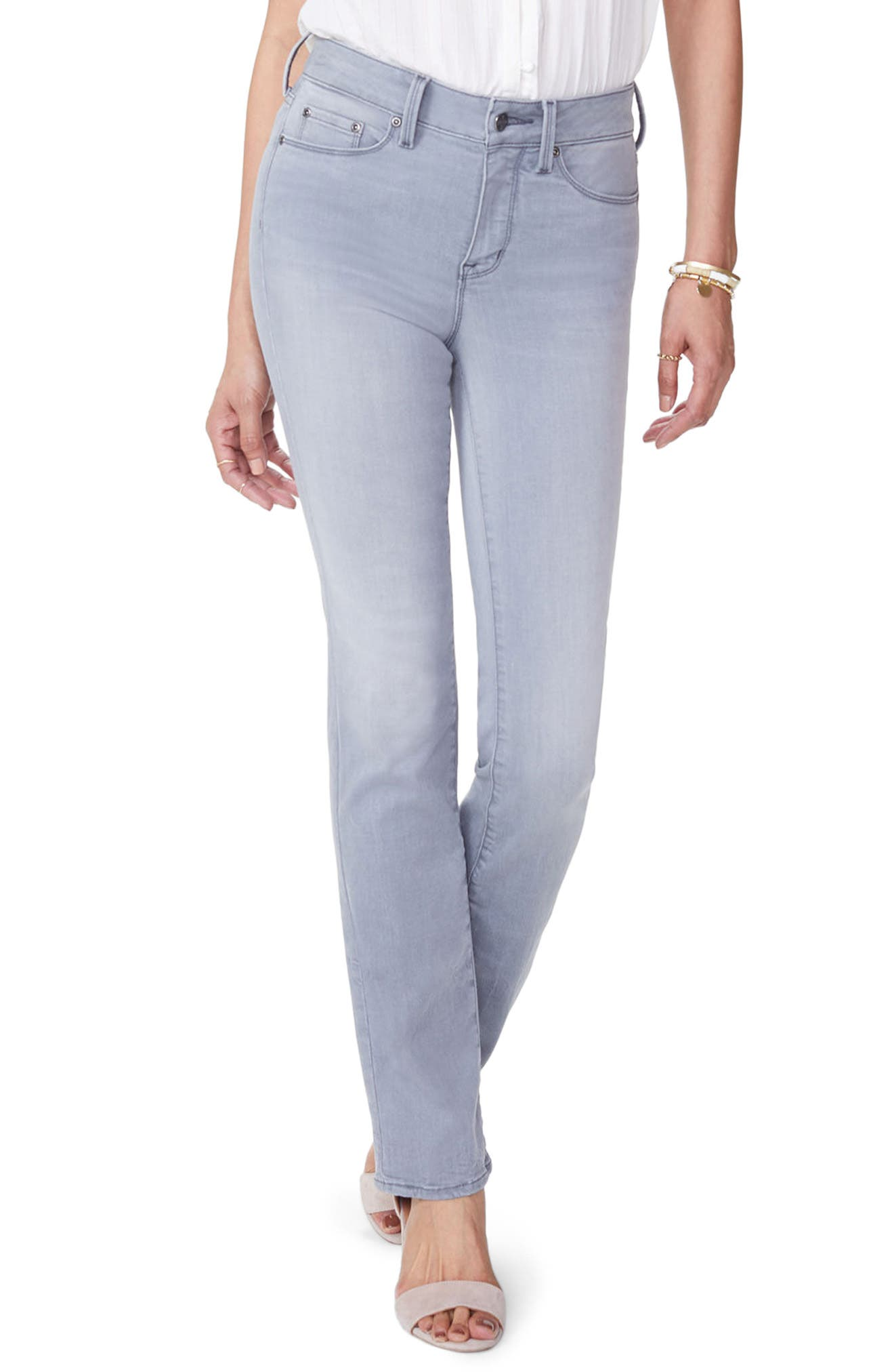 NYDJ Marilyn Stretch Straight Leg Jeans (Carbon Beach)