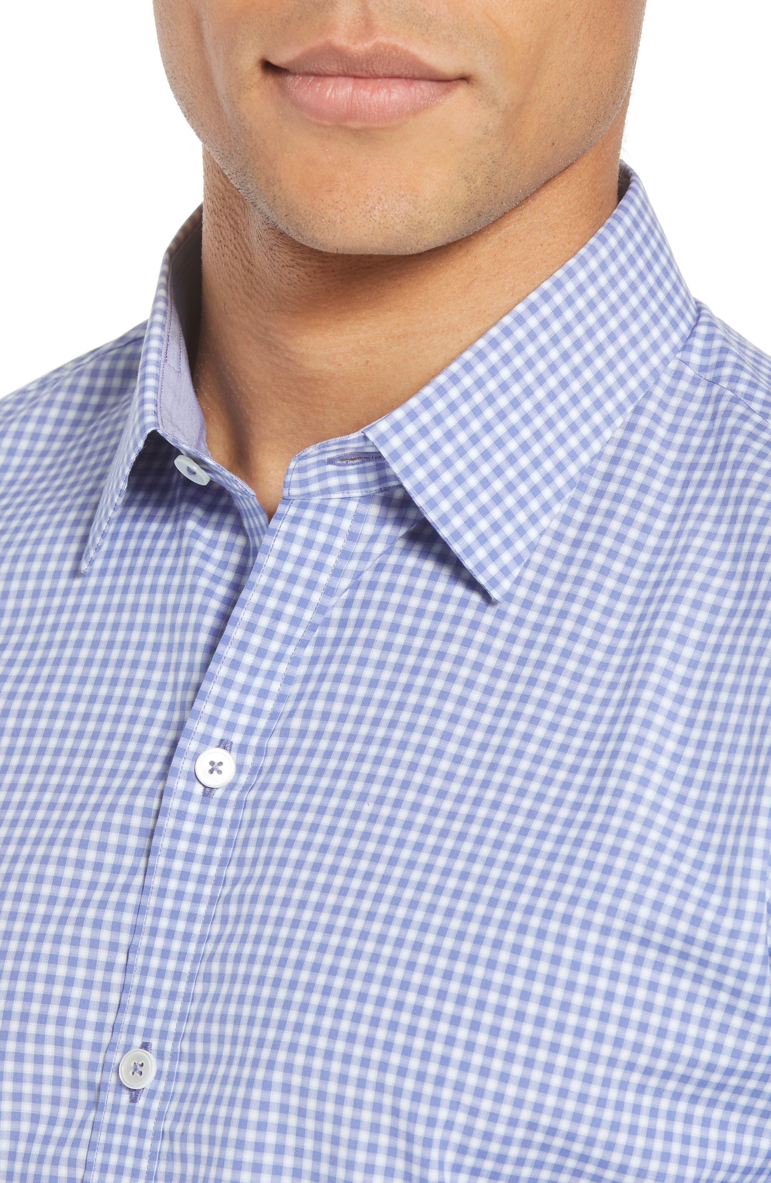 Winston Regular Fit Sport Shirt,                             Alternate thumbnail 4, color,                             Ocean