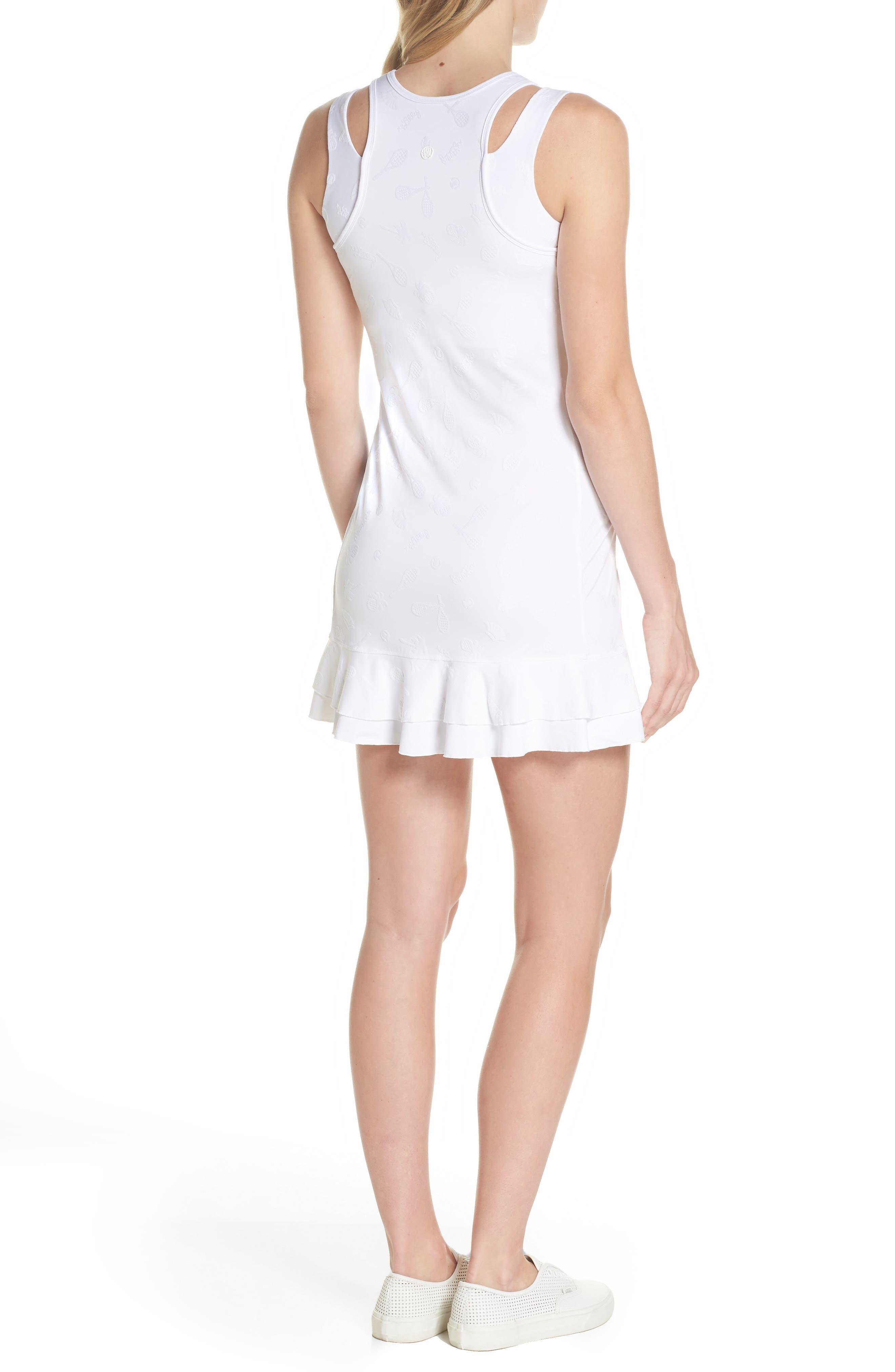 Delphina UPF 50+ Tennis Dress,                             Alternate thumbnail 2, color,                             Resort White Perfect Match Jaq