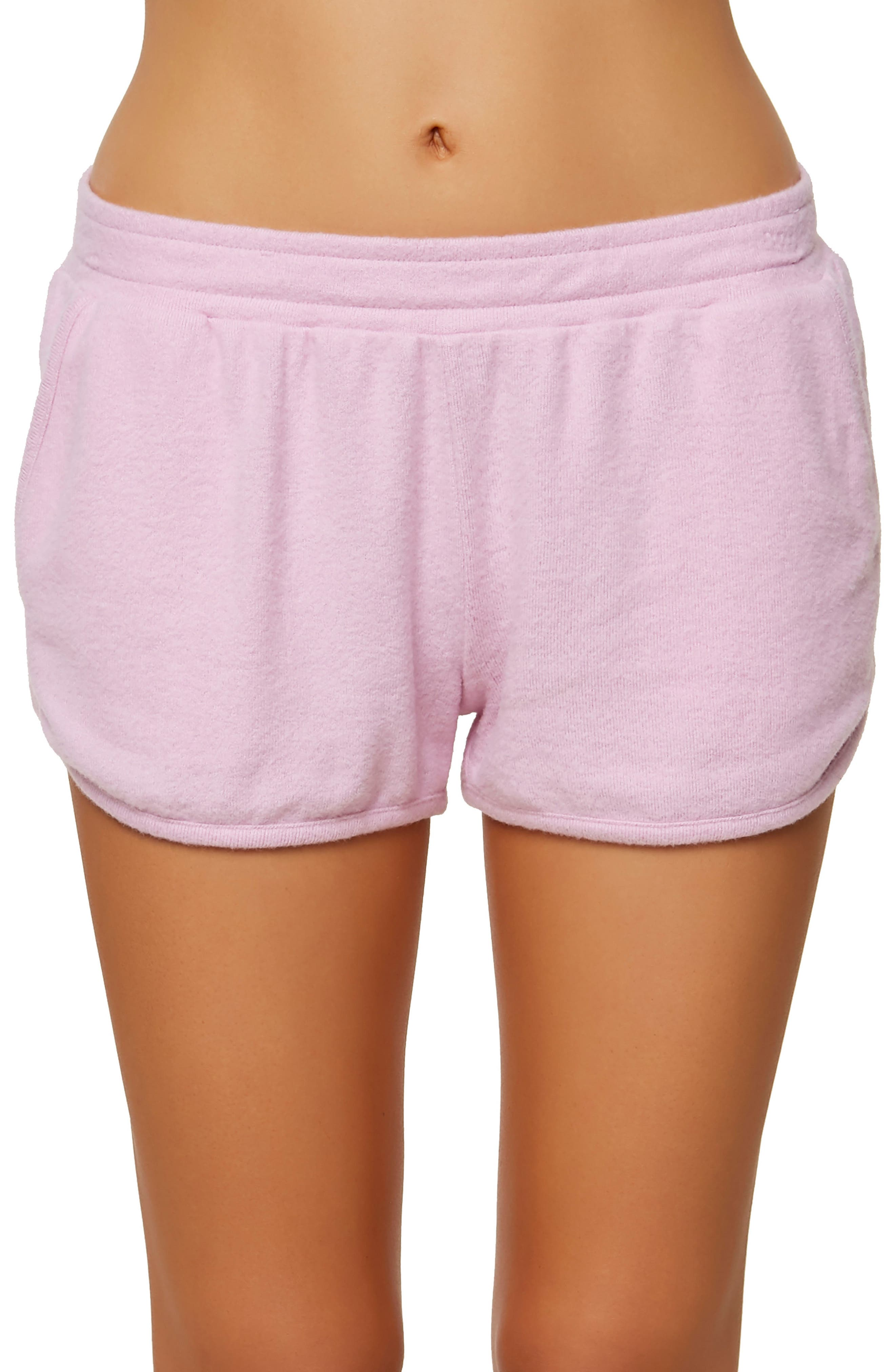 Costa Fleece Dolphin Shorts,                             Main thumbnail 1, color,                             Pastel Lavender