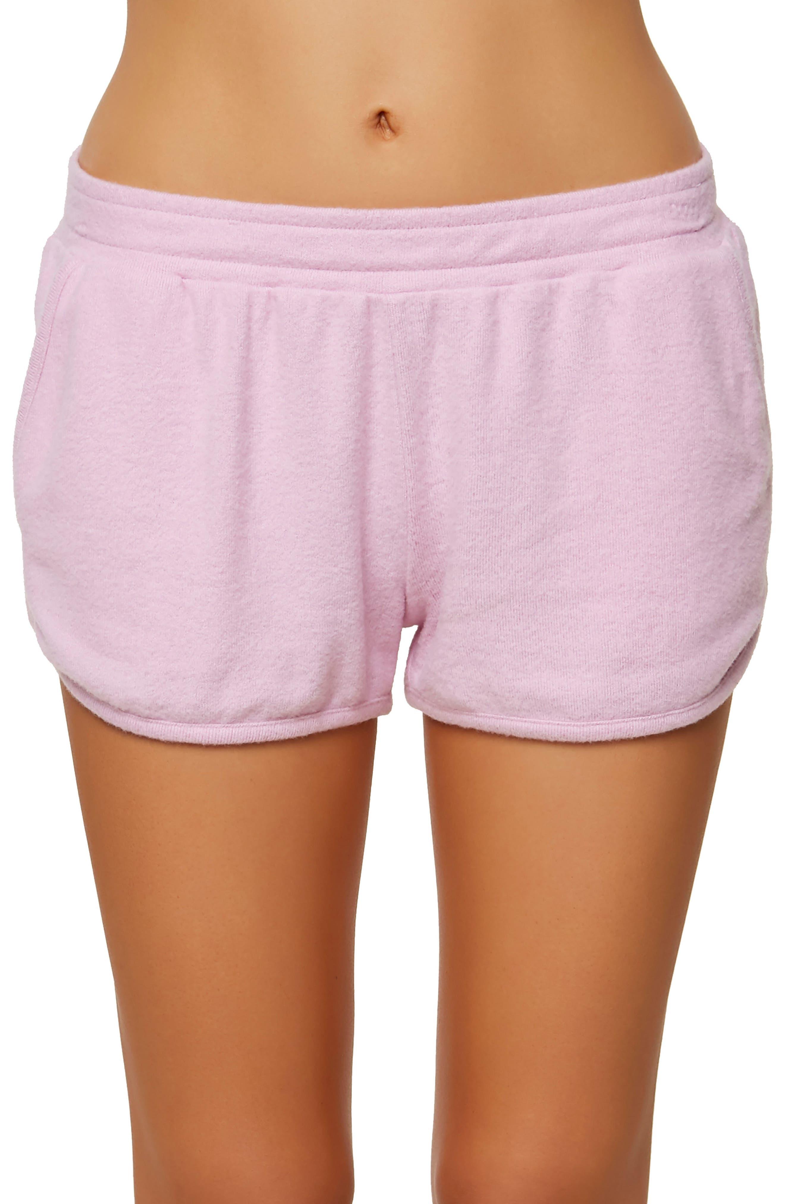 Costa Fleece Dolphin Shorts,                         Main,                         color, Pastel Lavender