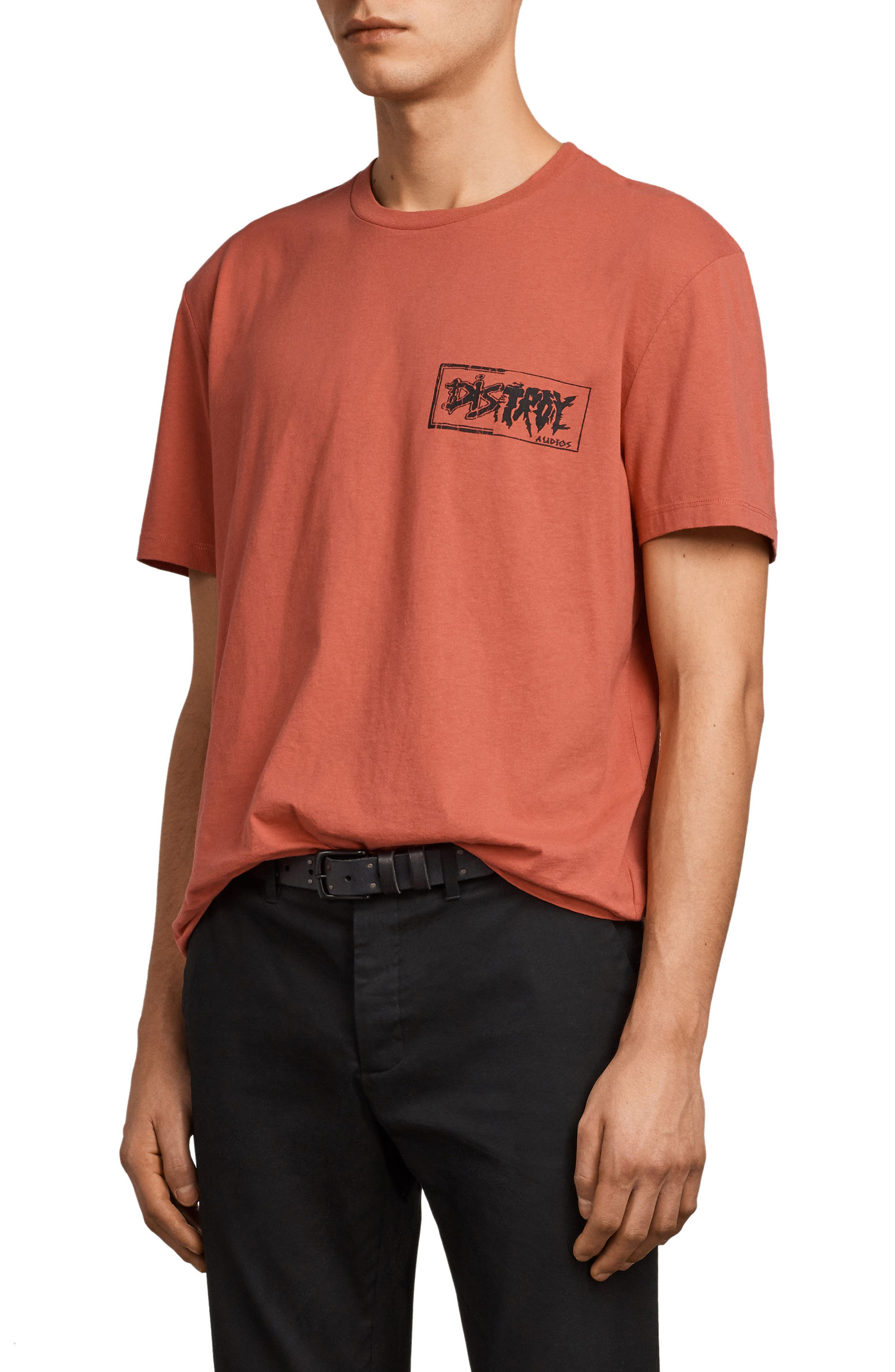 Distroy Graphic T-Shirt,                             Alternate thumbnail 3, color,                             Block Red/ Black