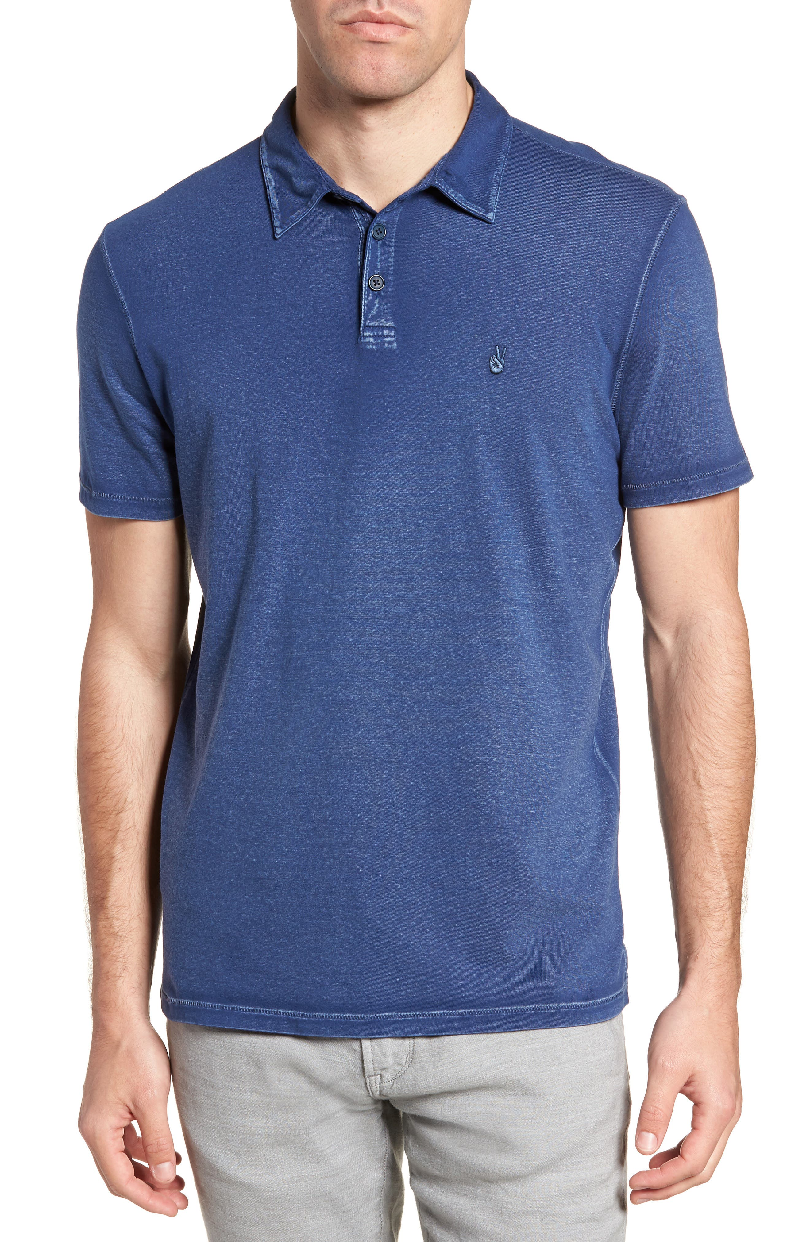 John Varvatos Star USA Rub Peace Polo