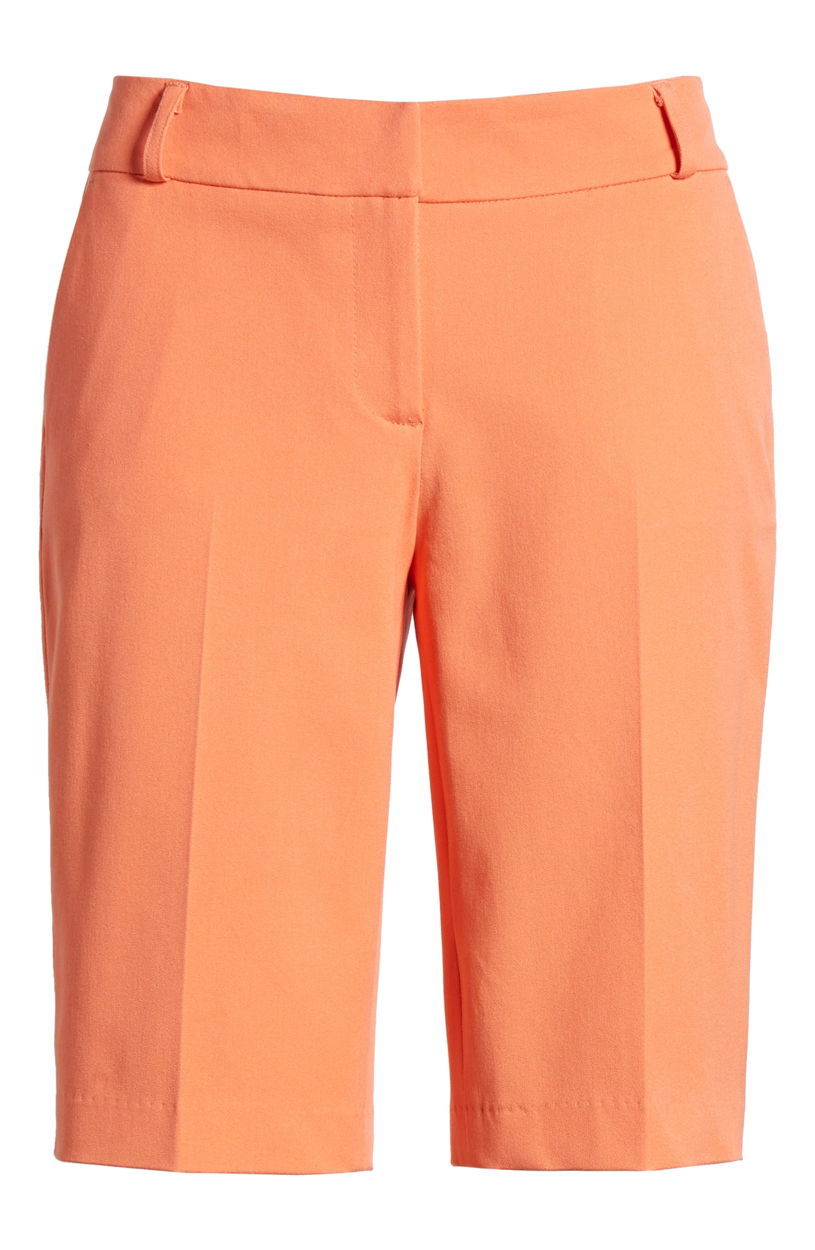 Stretch Bermuda Shorts,                             Alternate thumbnail 6, color,                             Coral Ocean