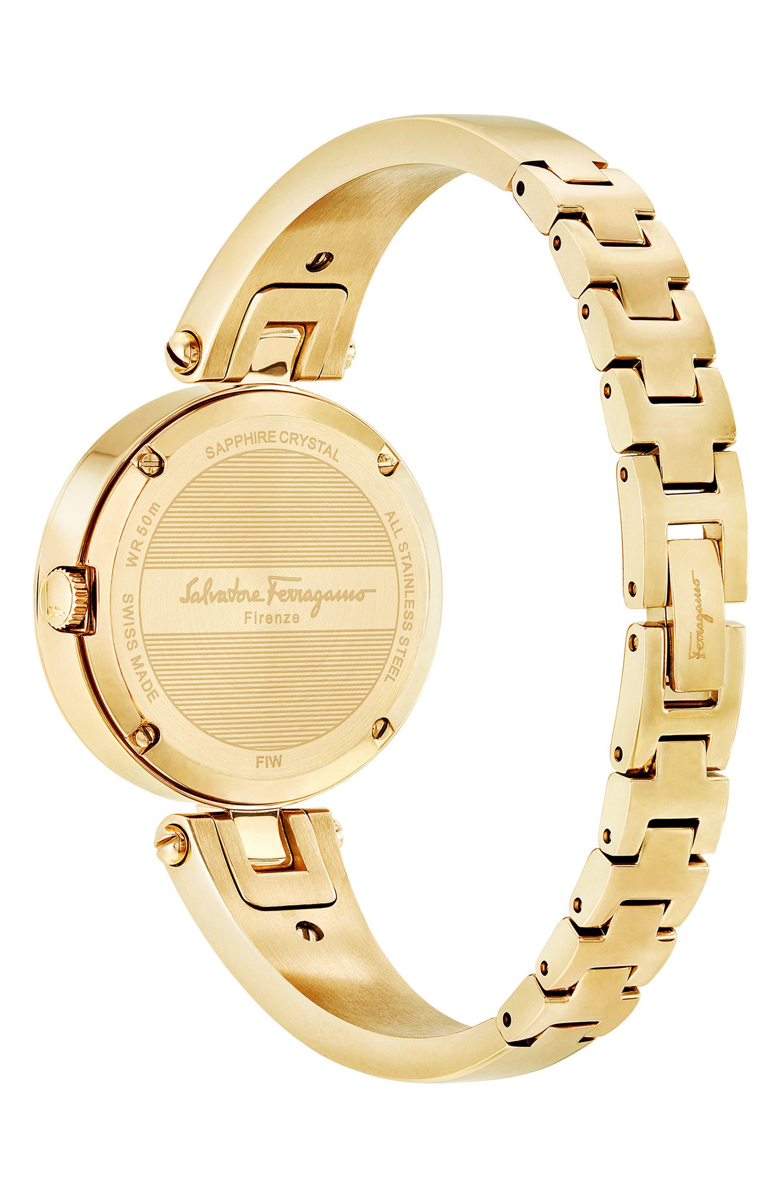 Gilion Diamond Bangle Watch, 32mm,                             Alternate thumbnail 2, color,                             Gold
