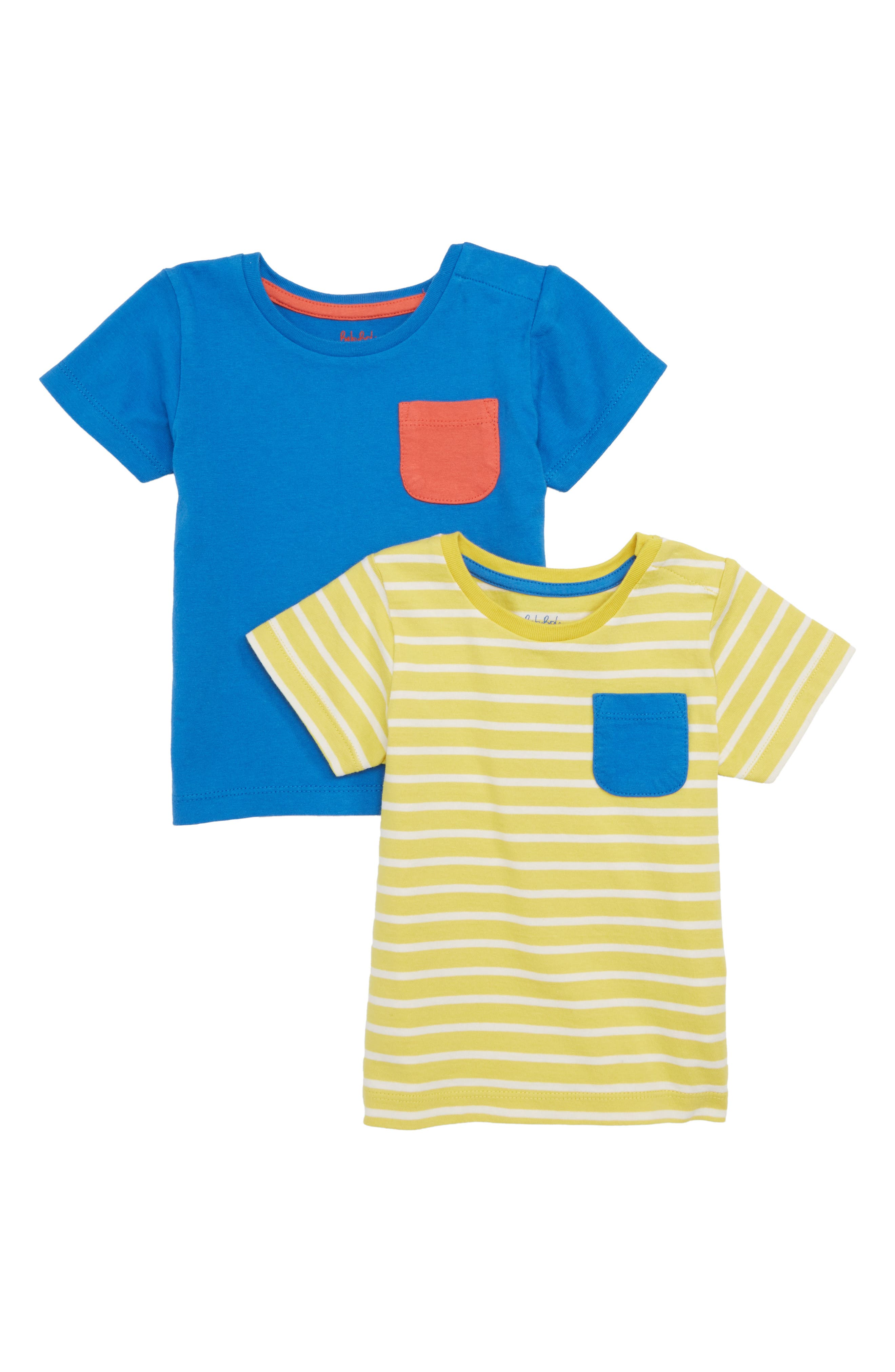 2-Pack T-Shirts,                         Main,                         color, Sweetcorn/ Ivory