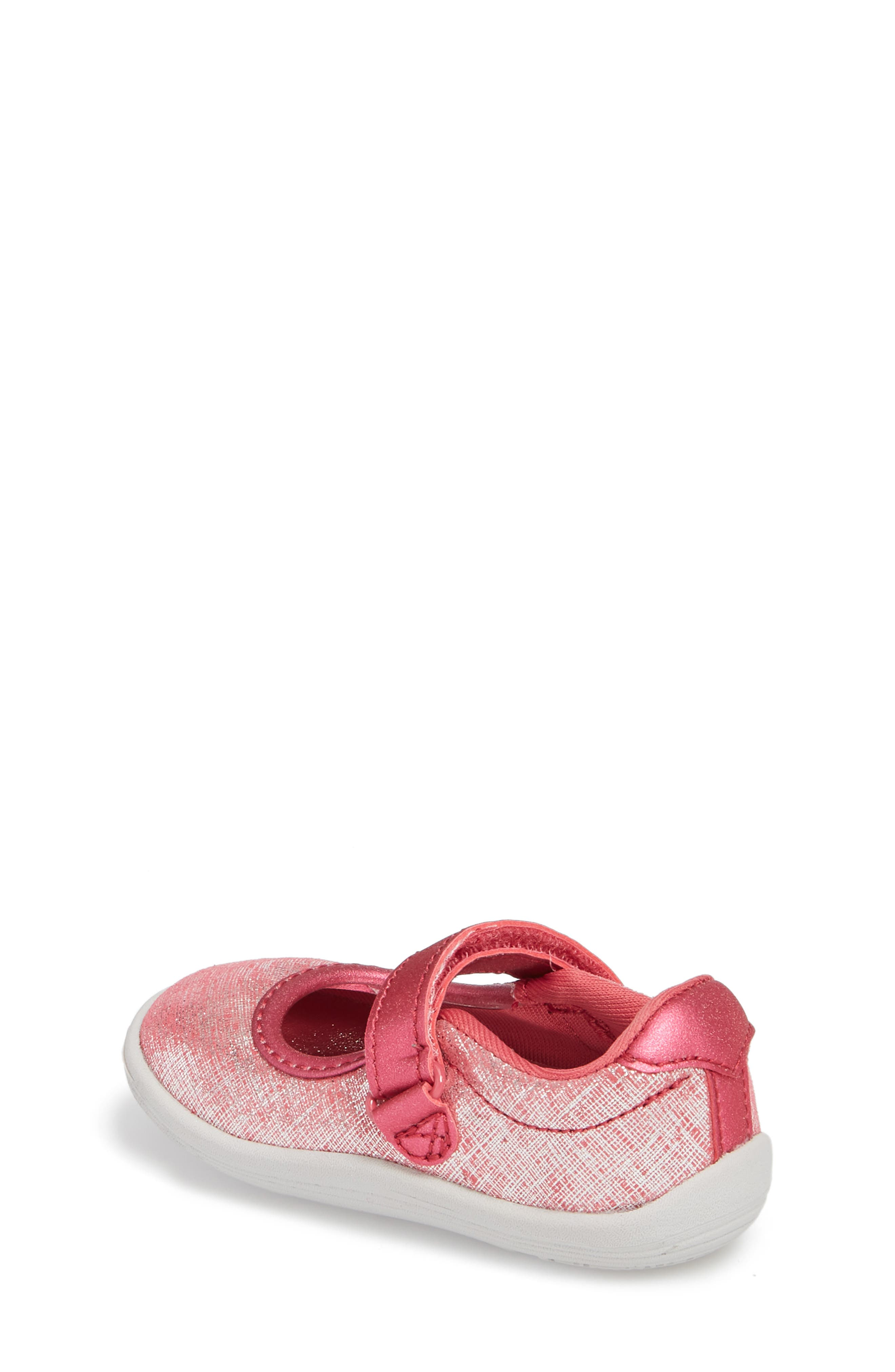 Nora Metallic Mary Jane Sneaker,                             Alternate thumbnail 2, color,                             Pink Shimmer Leather