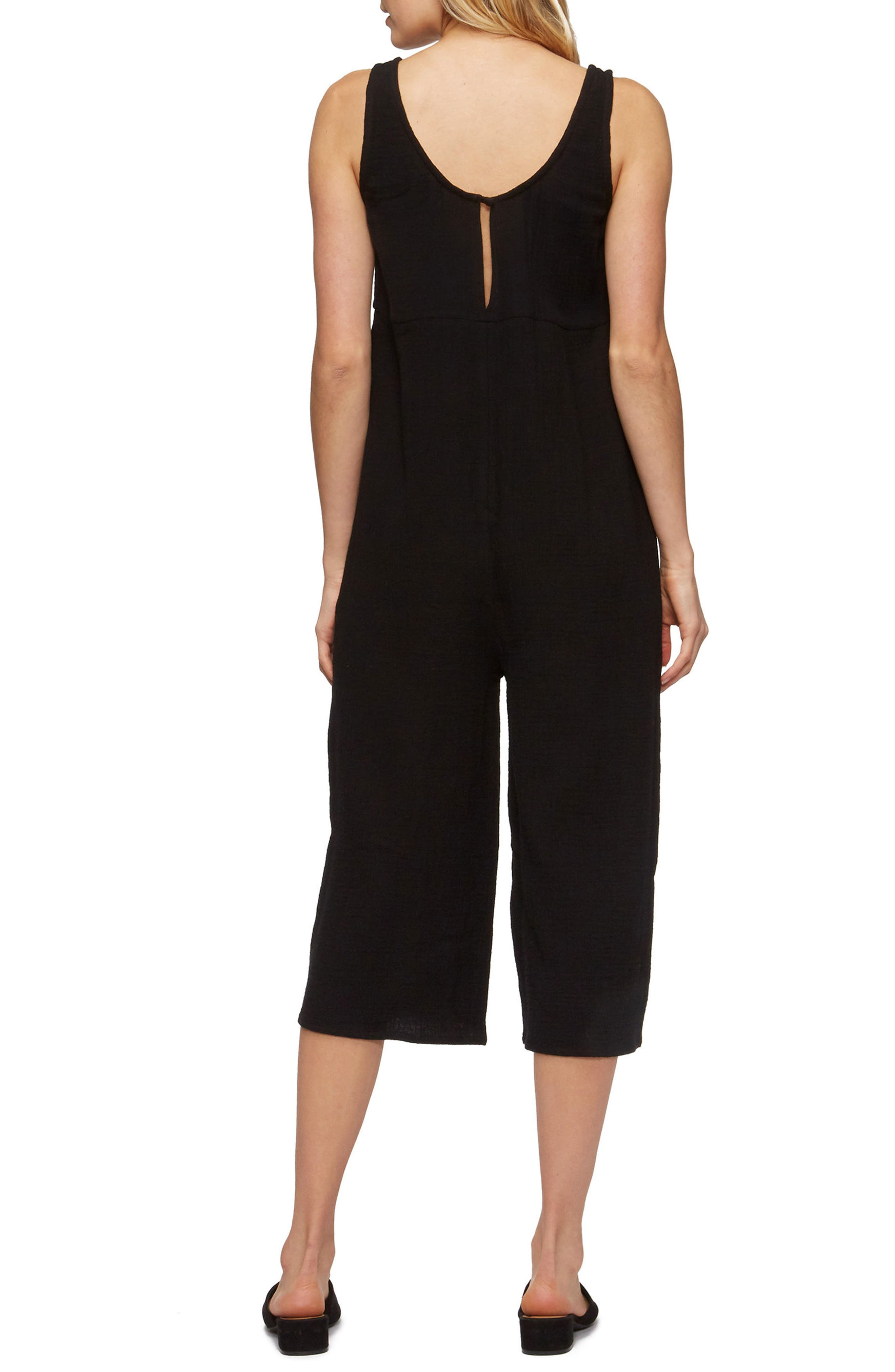Byrony Jumpsuit Cover-Up,                             Alternate thumbnail 2, color,                             Black