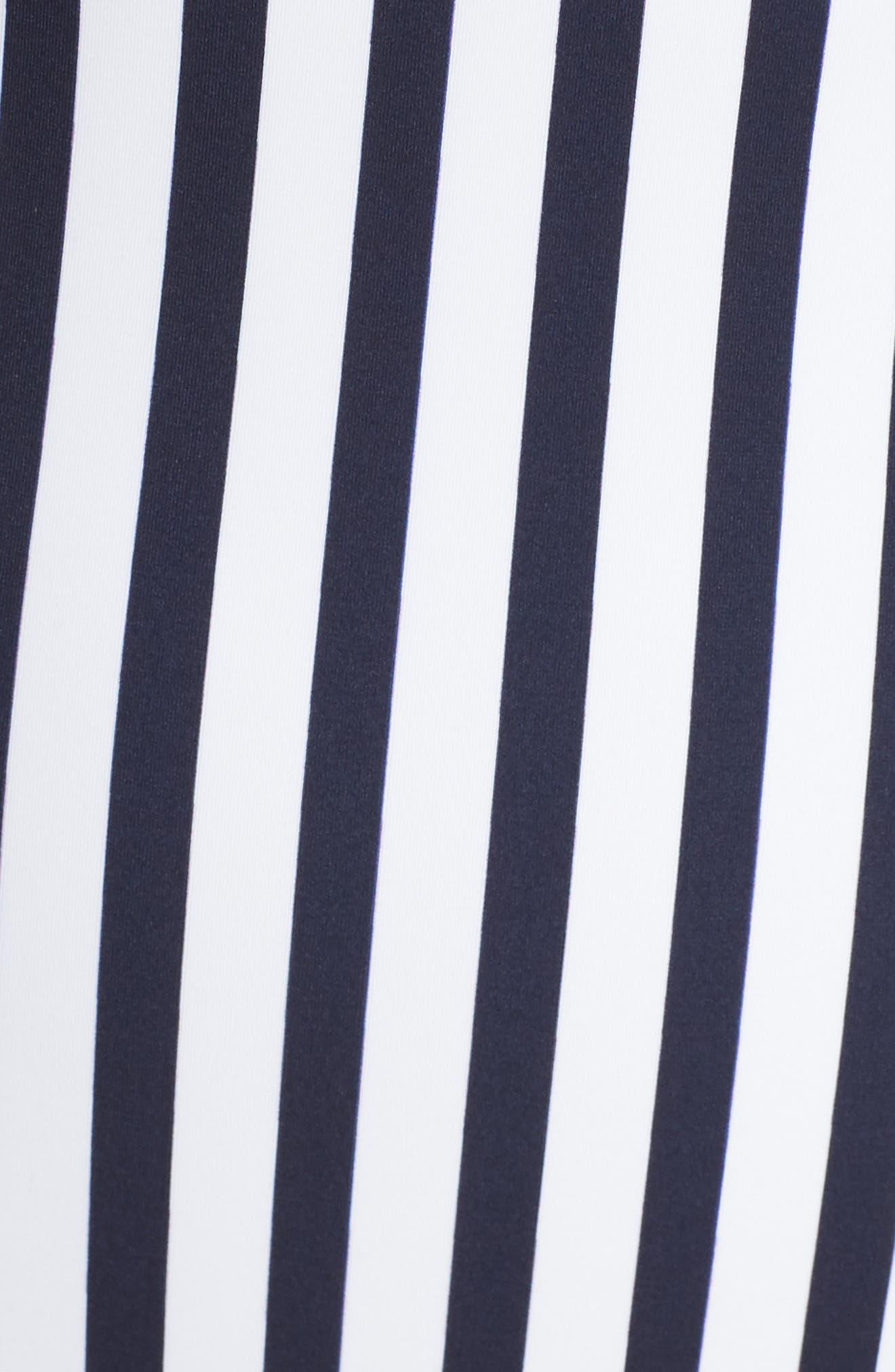 Stripe One-Piece Swimsuit,                             Alternate thumbnail 5, color,                             Nautical