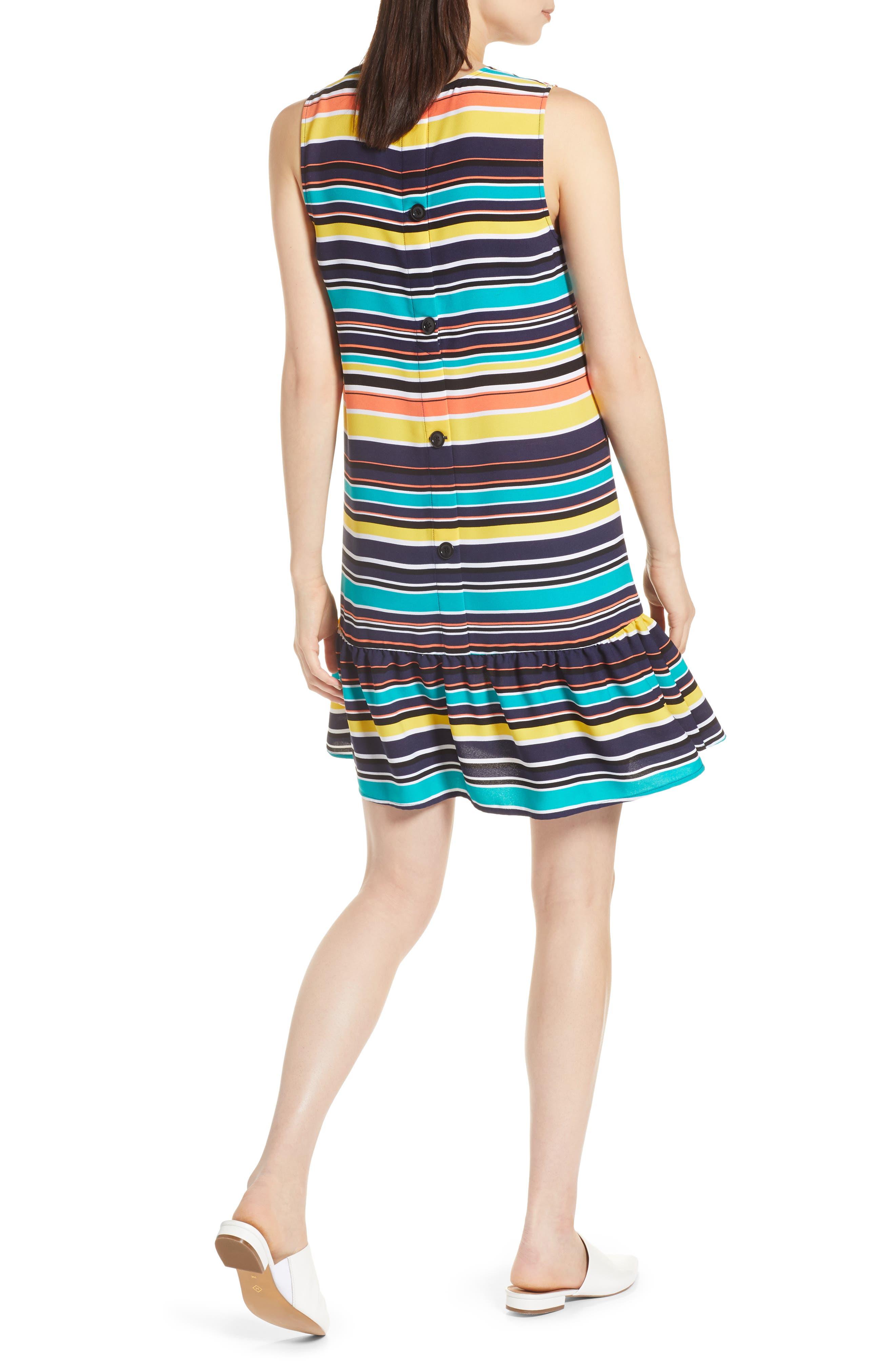 Alternate Image 2  - Halogen® Ruffle Hem Shift Dress (Regular & Petite)