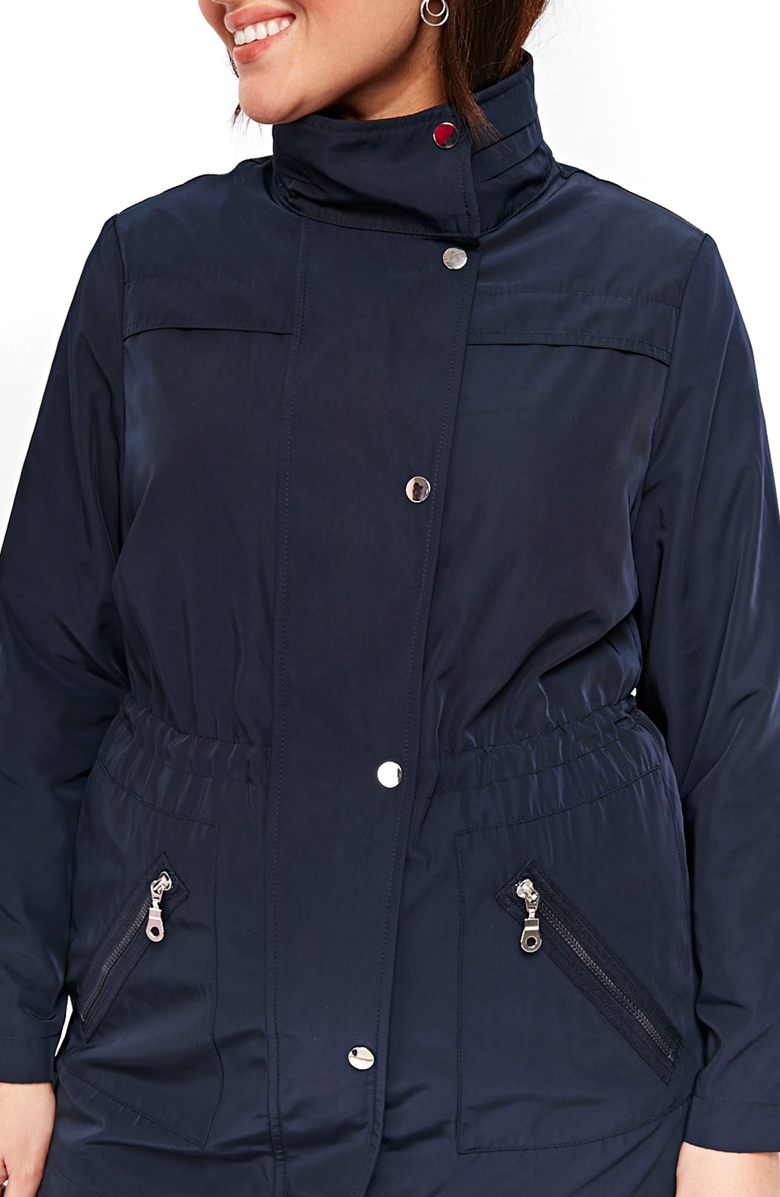 Zip Trim Jacket,                             Alternate thumbnail 2, color,                             Navy Blue