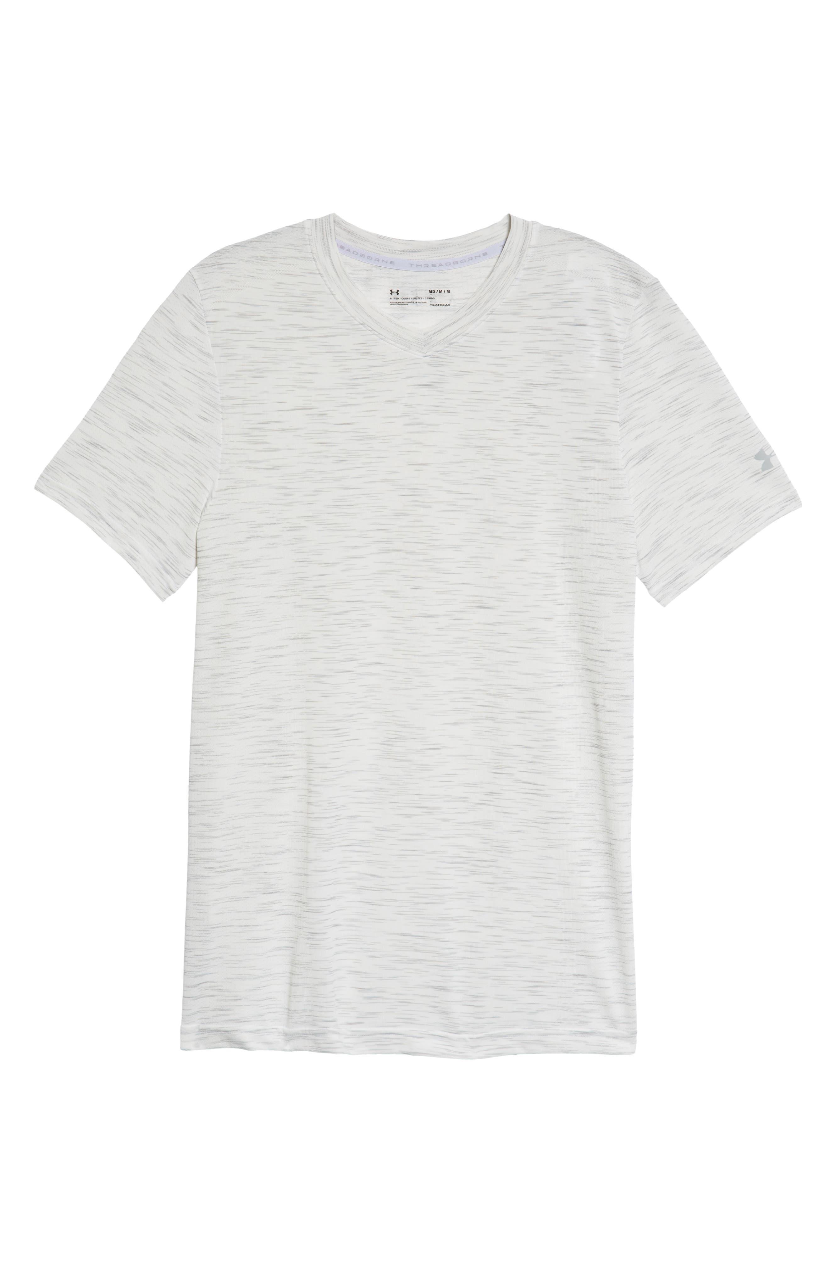 Regular Fit Threadborne T-Shirt,                             Alternate thumbnail 6, color,                             White