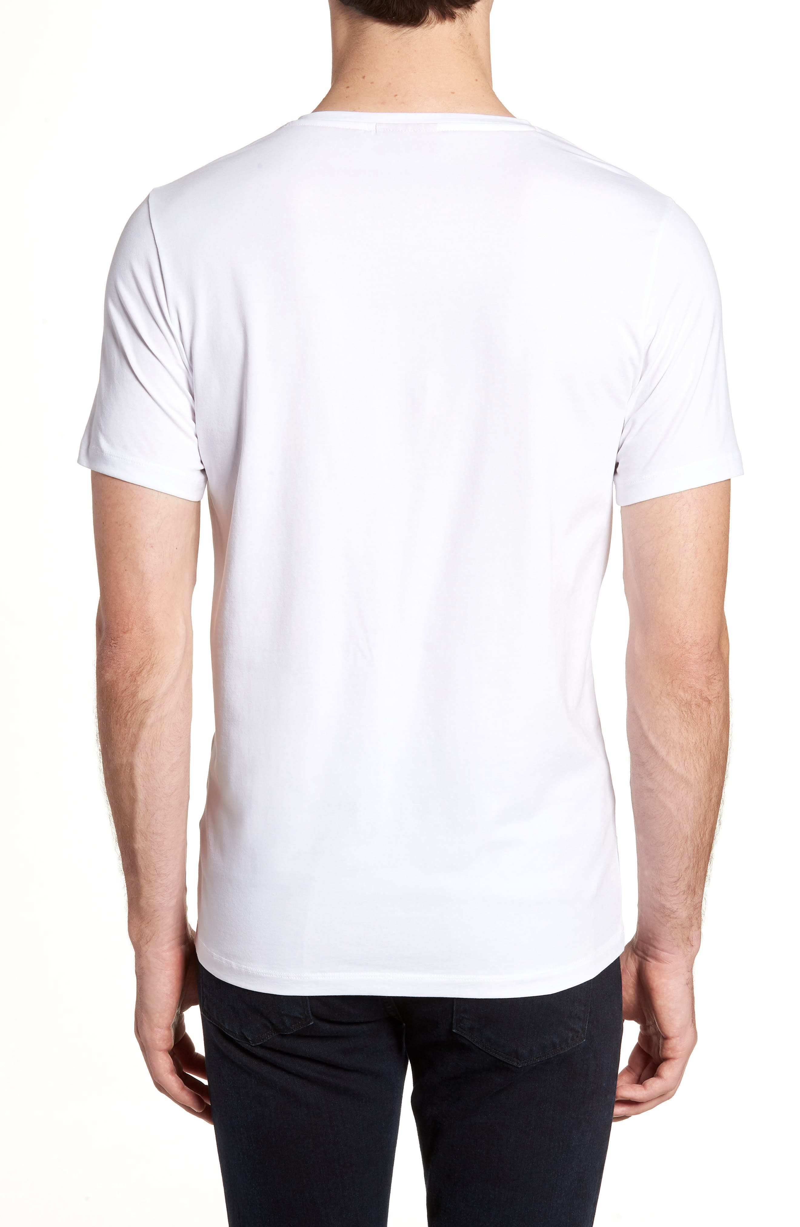 HUGO Dandre Slim Fit V-Neck T-Shirt,                             Alternate thumbnail 2, color,                             White