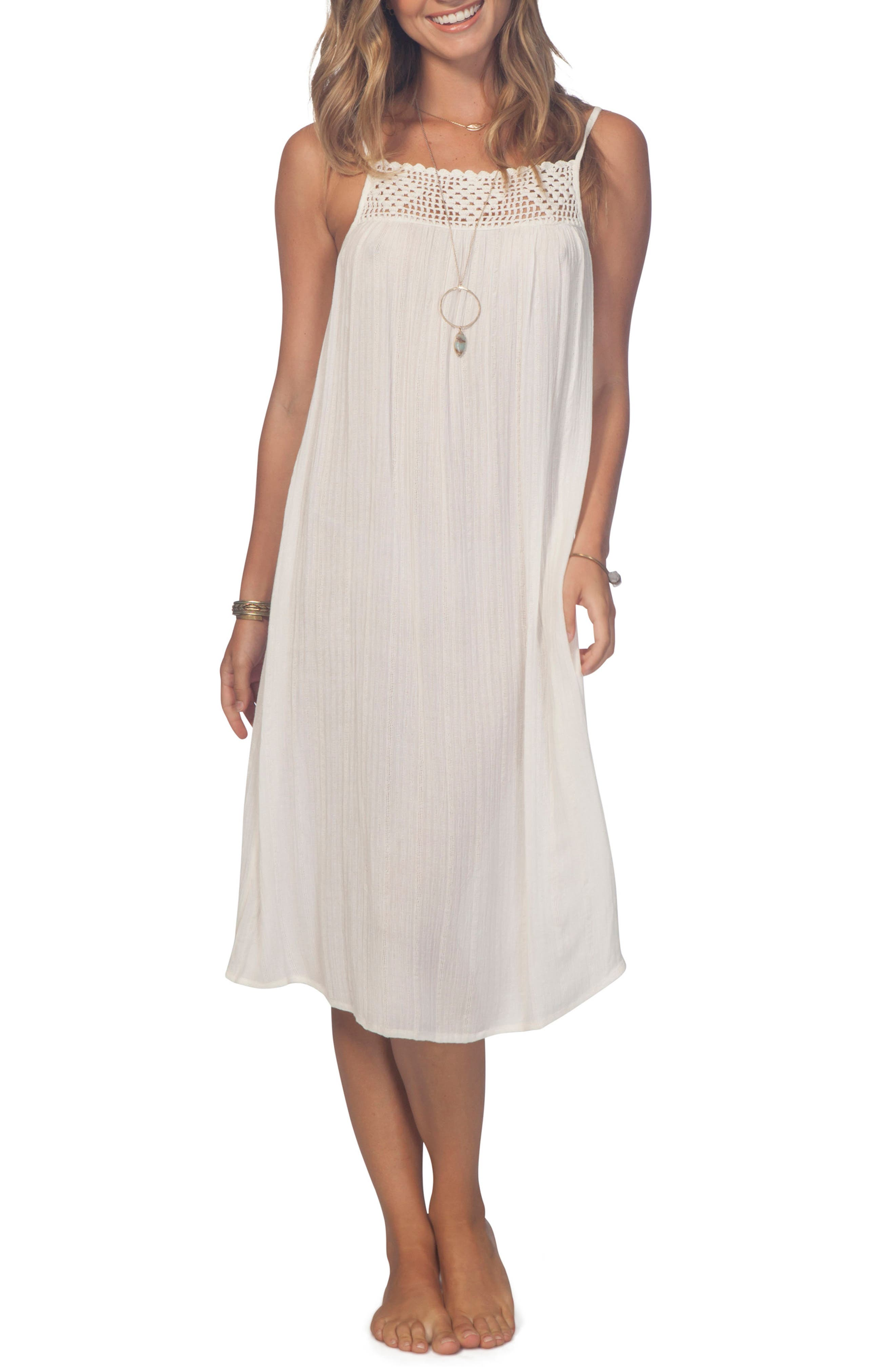 Alternate Image 1 Selected - Rip Curl South Wind Border Crochet Neck Midi Dress