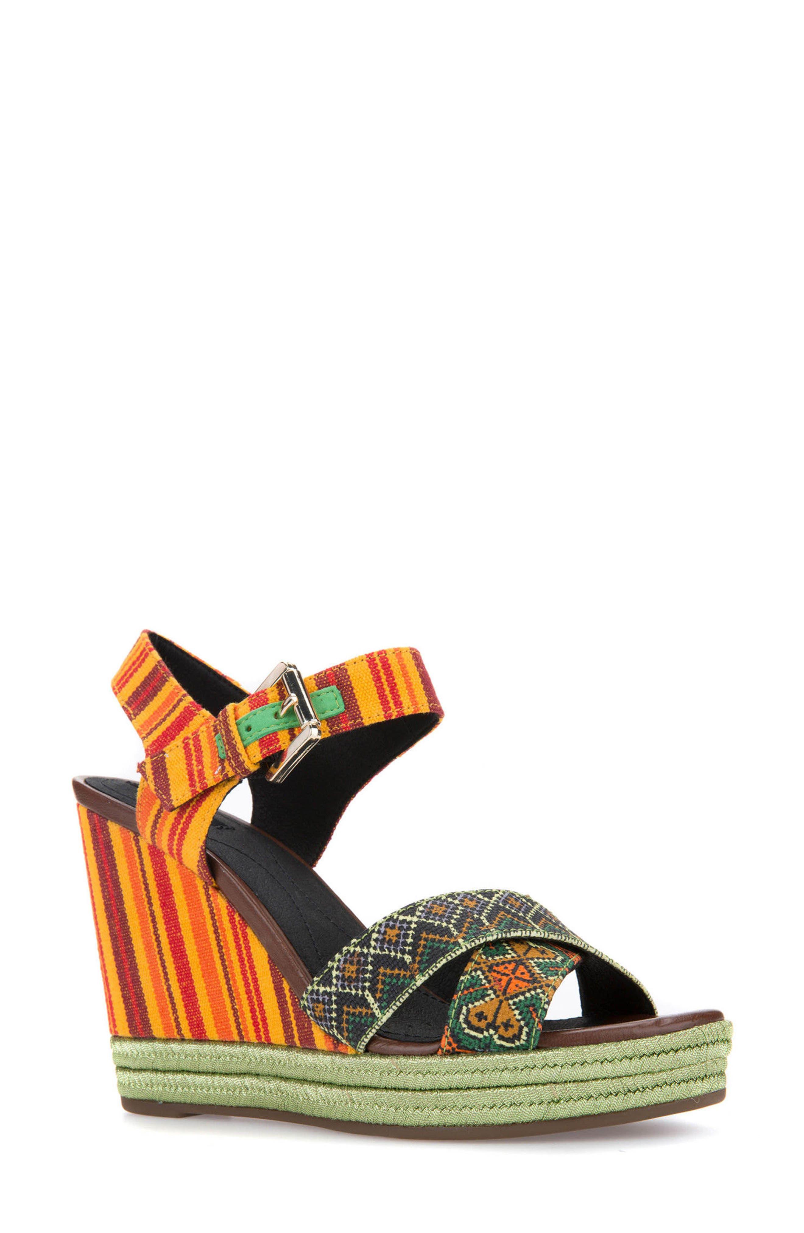 Geox Janira 15 Wedge Sandal (Women)