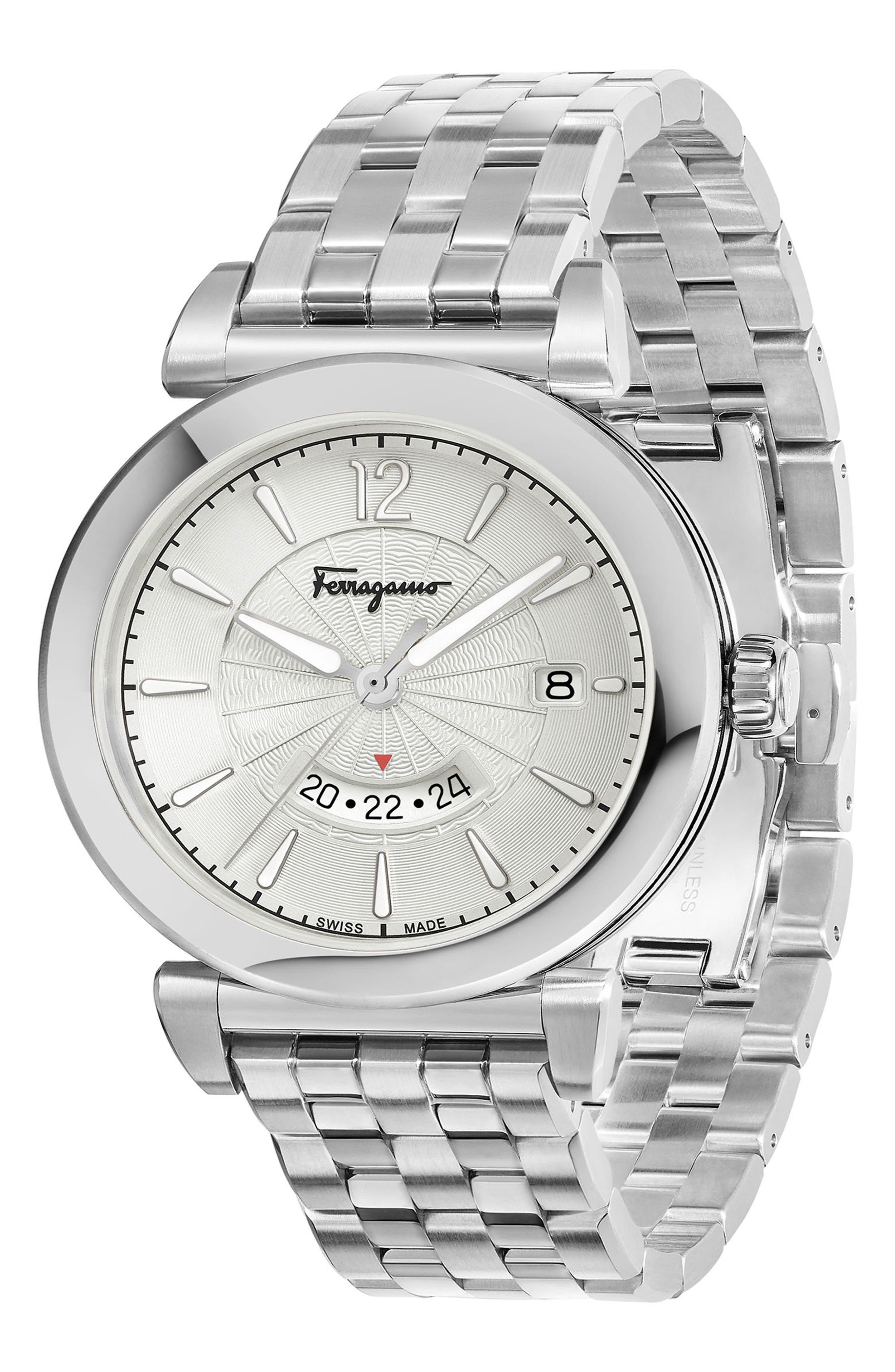 Time Bracelet Watch, 40mm,                             Alternate thumbnail 3, color,                             Silver