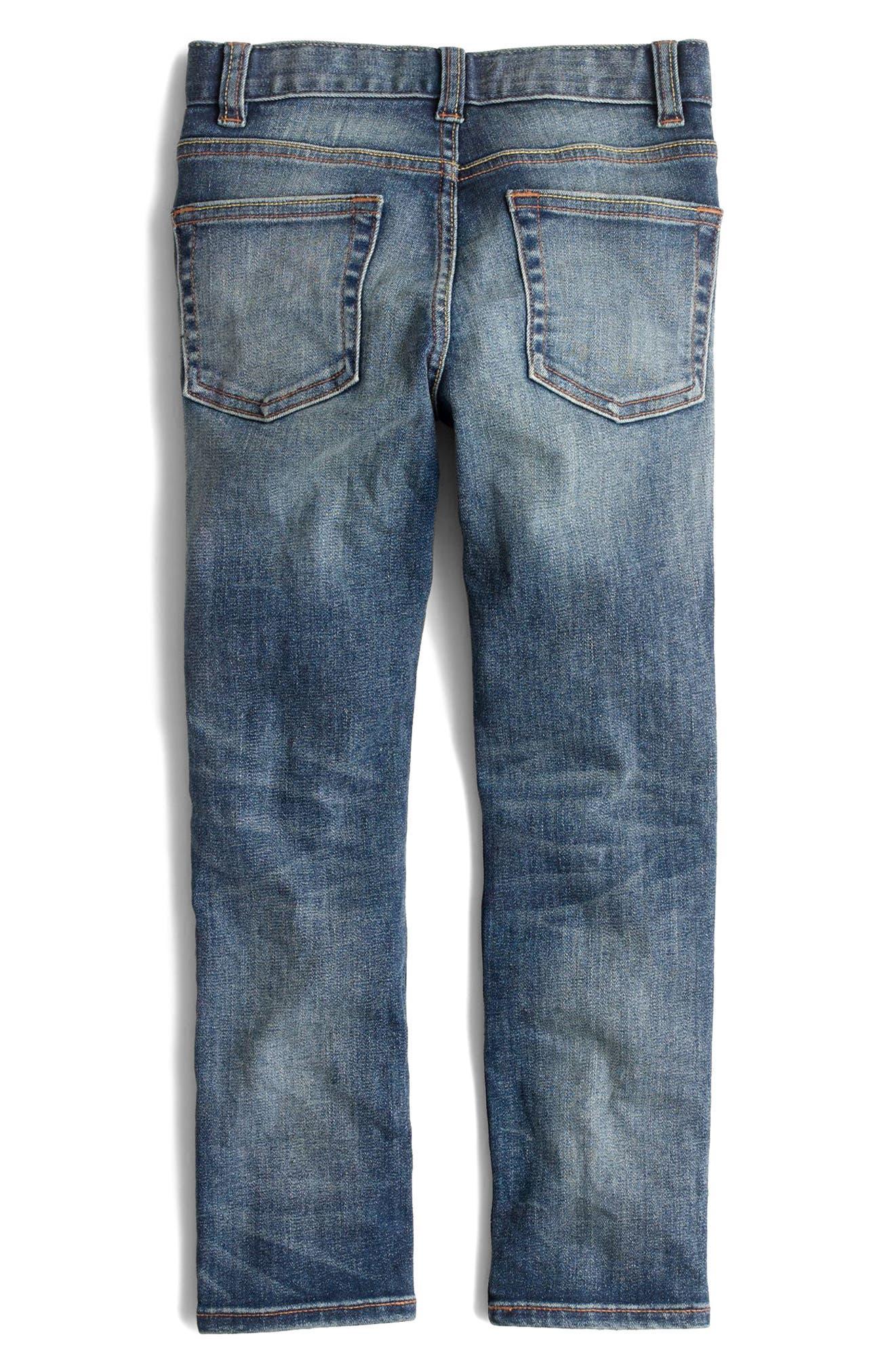 Vintage Wash Stretch Skinny Fit Jeans,                             Alternate thumbnail 2, color,                             Vintage Wash