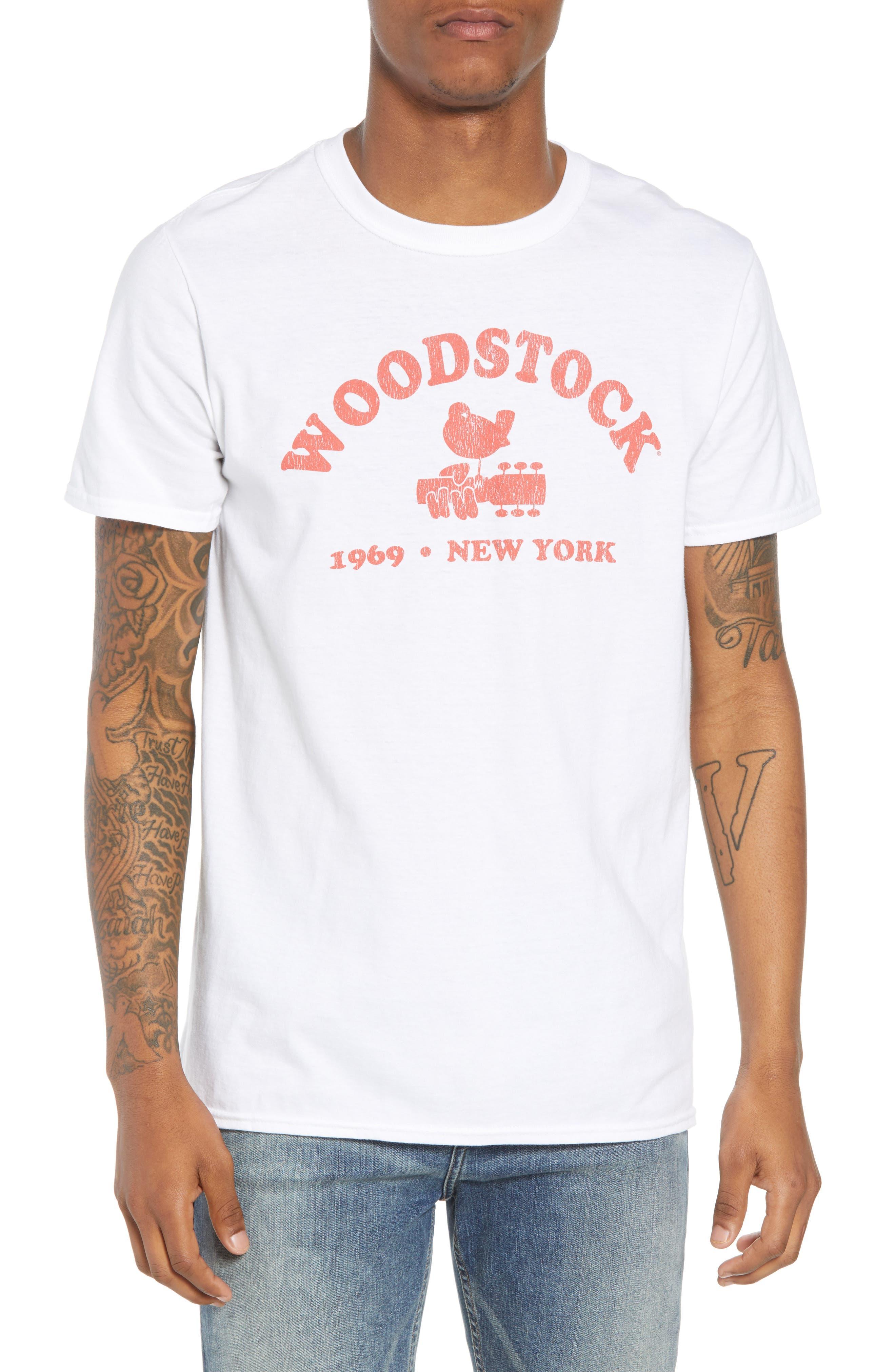 Woodstock Graphic T-Shirt,                             Main thumbnail 1, color,                             White Tee Woodstock
