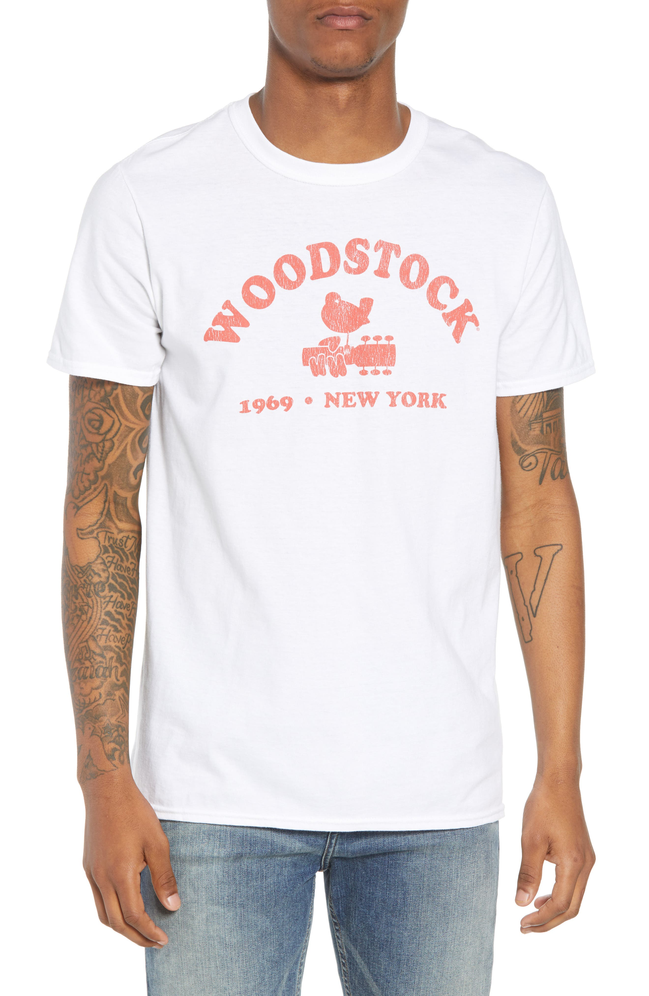 Woodstock Graphic T-Shirt,                         Main,                         color, White Tee Woodstock