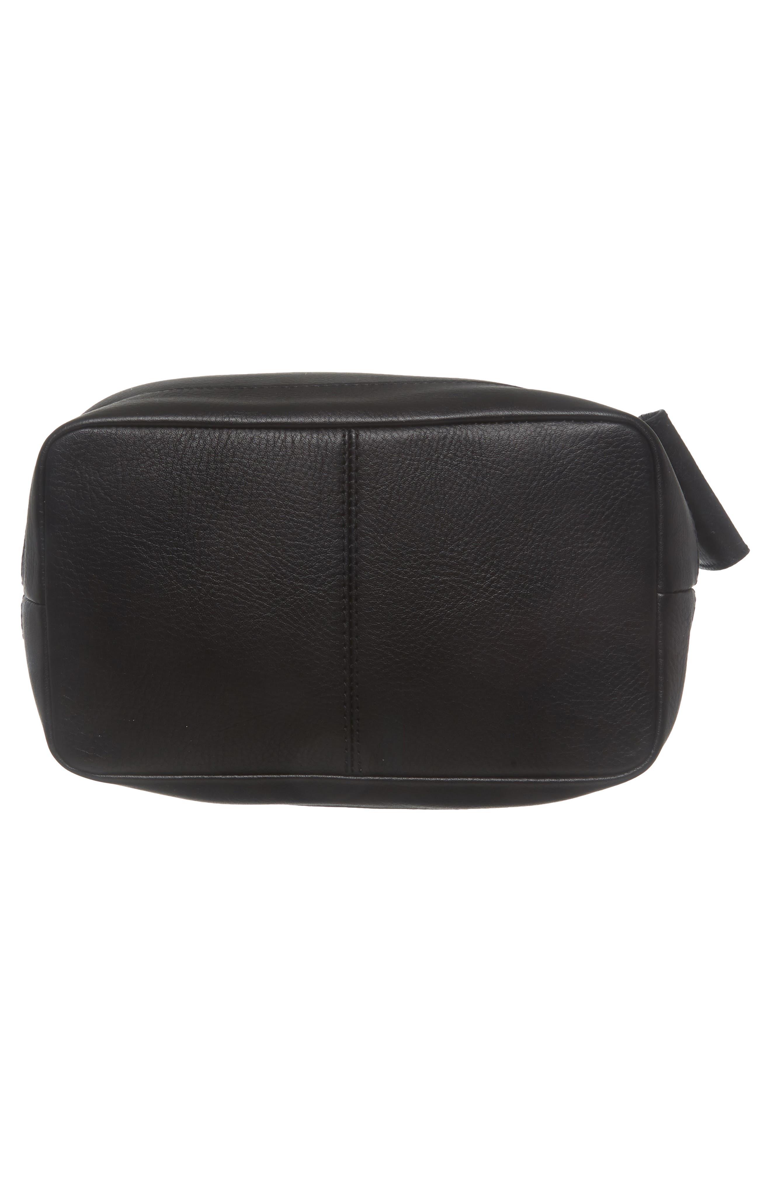 Lafayette Leather Bucket Bag,                             Alternate thumbnail 6, color,                             True Black