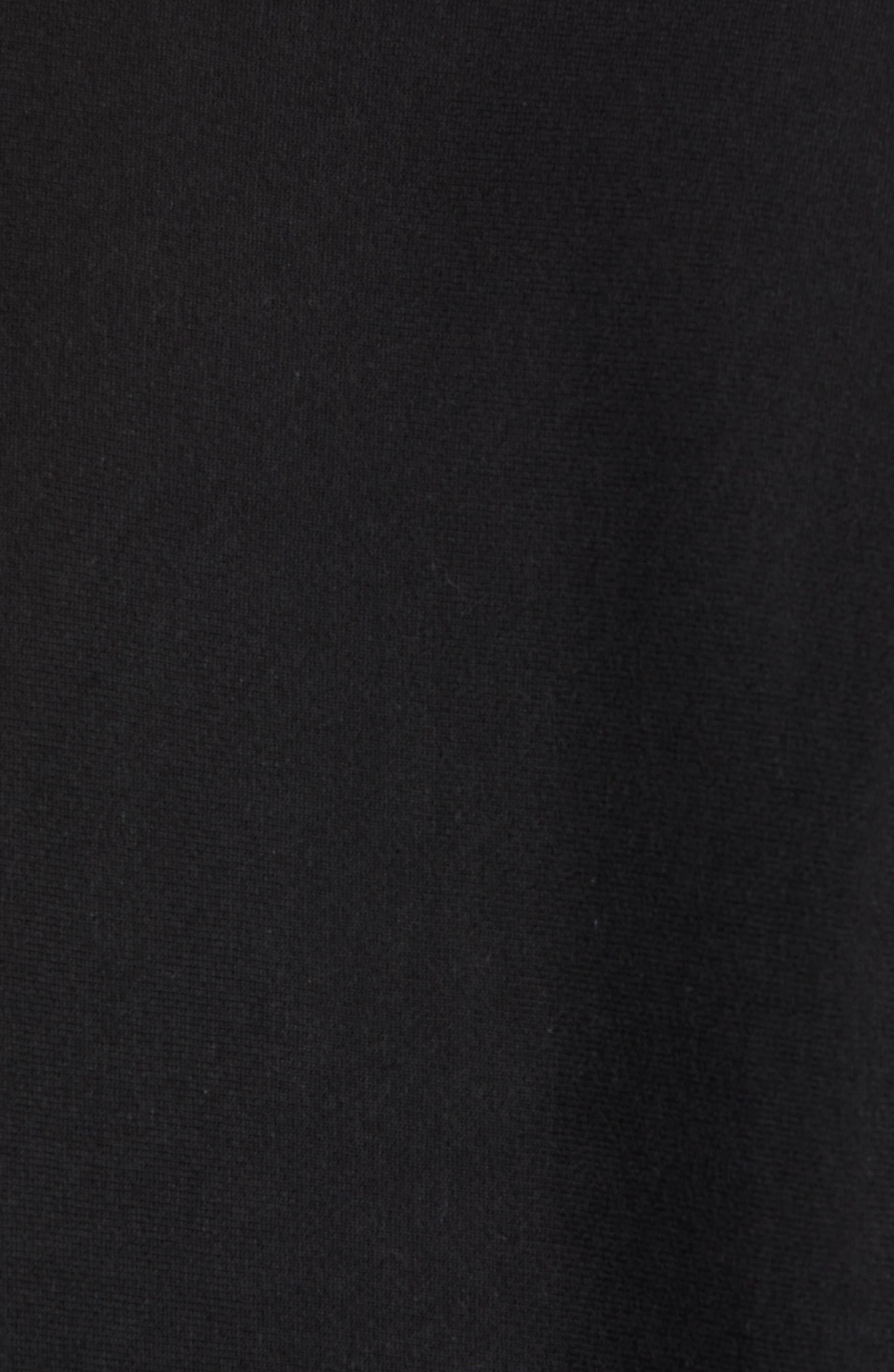 Reverse Weave Sweatshirt,                             Alternate thumbnail 5, color,                             Black