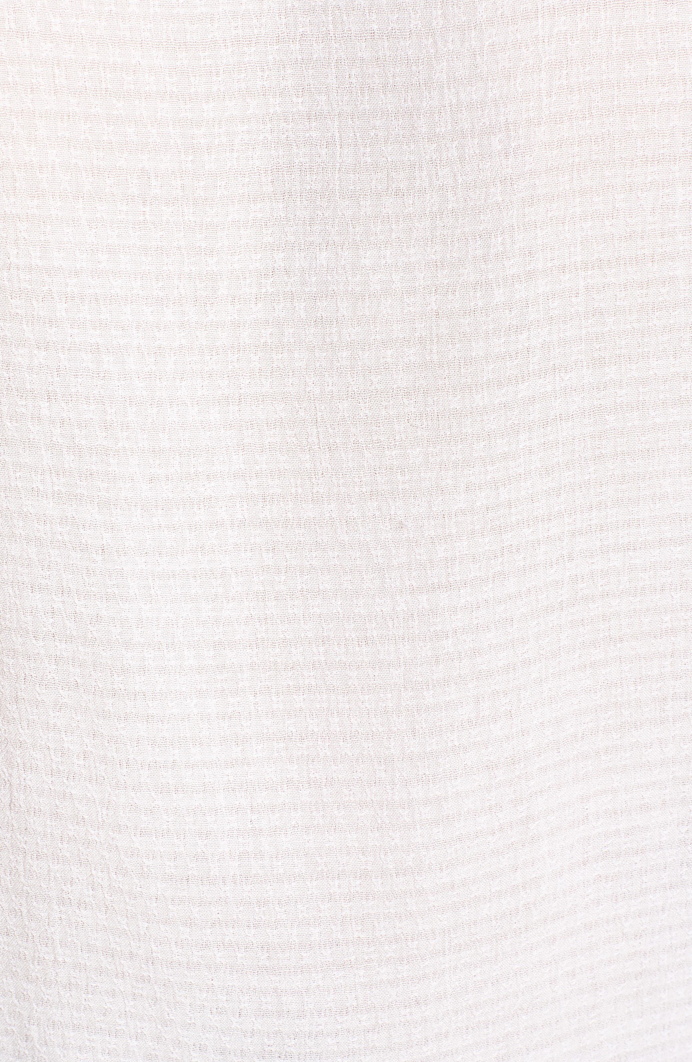 Houston Woven Tie Waist Top,                             Alternate thumbnail 6, color,                             White