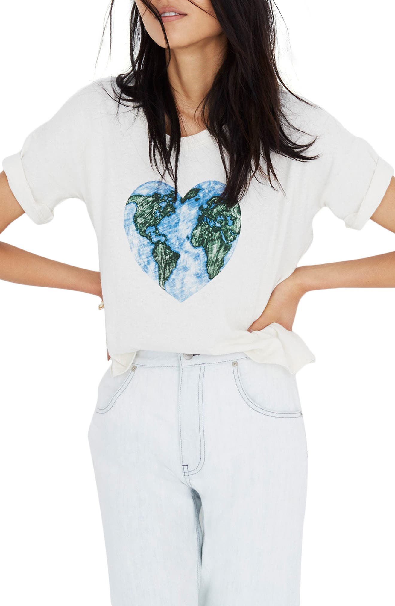 x Surfrider Foundation Mother Earth Tee,                         Main,                         color, Natural Seeded