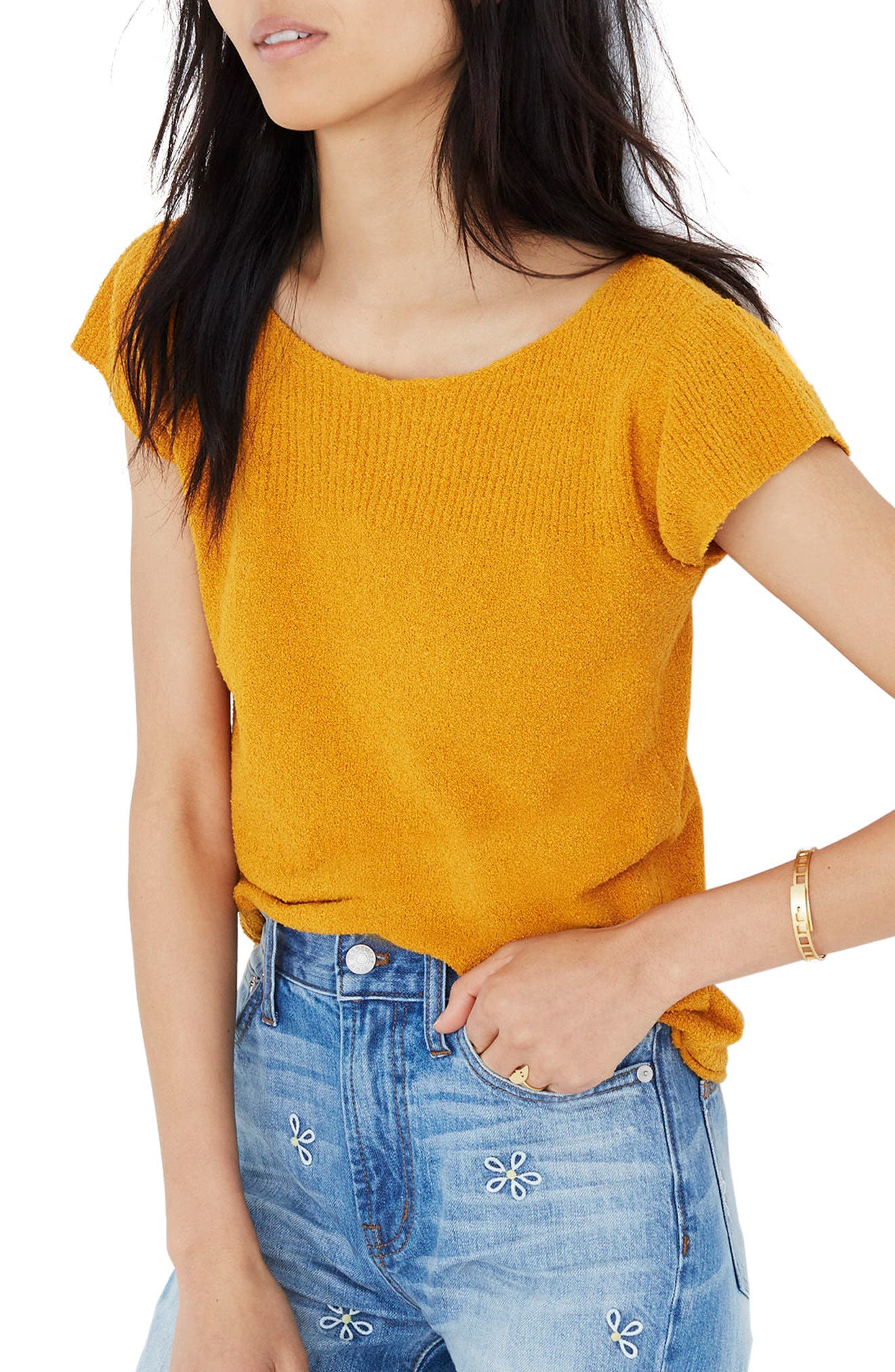 Marin Sweater Tee,                         Main,                         color, Hayfield