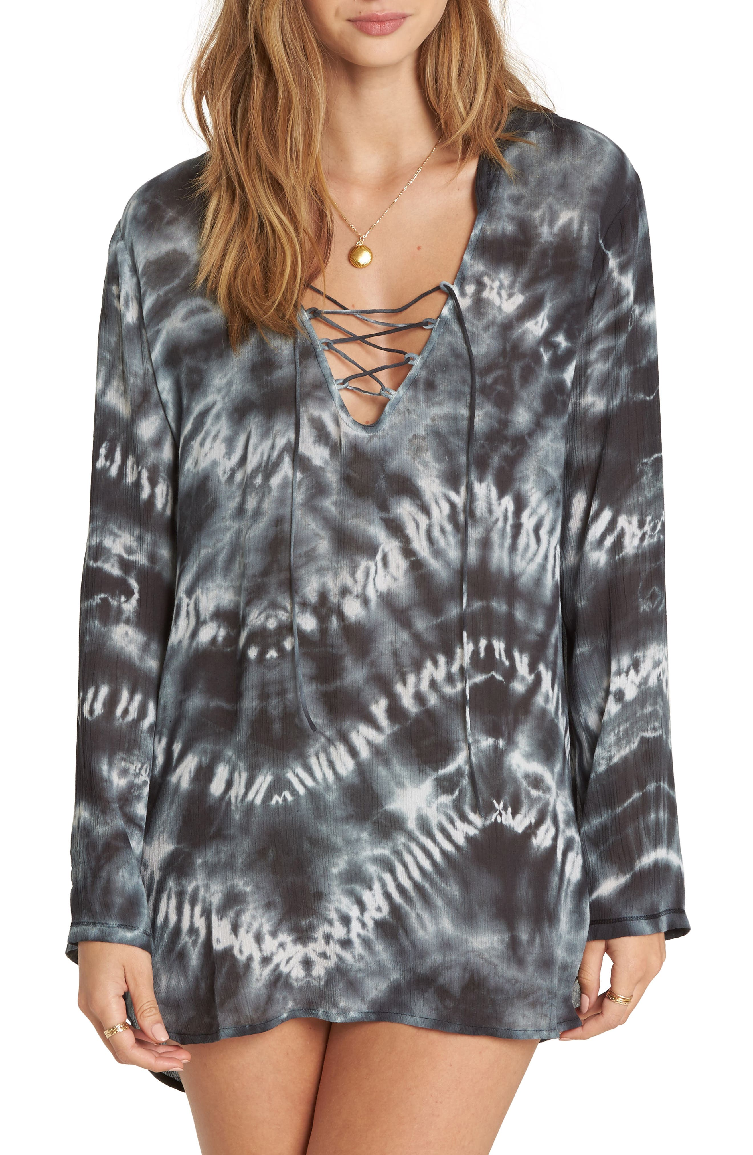 Same Story Cover-Up Tunic,                         Main,                         color, Black White