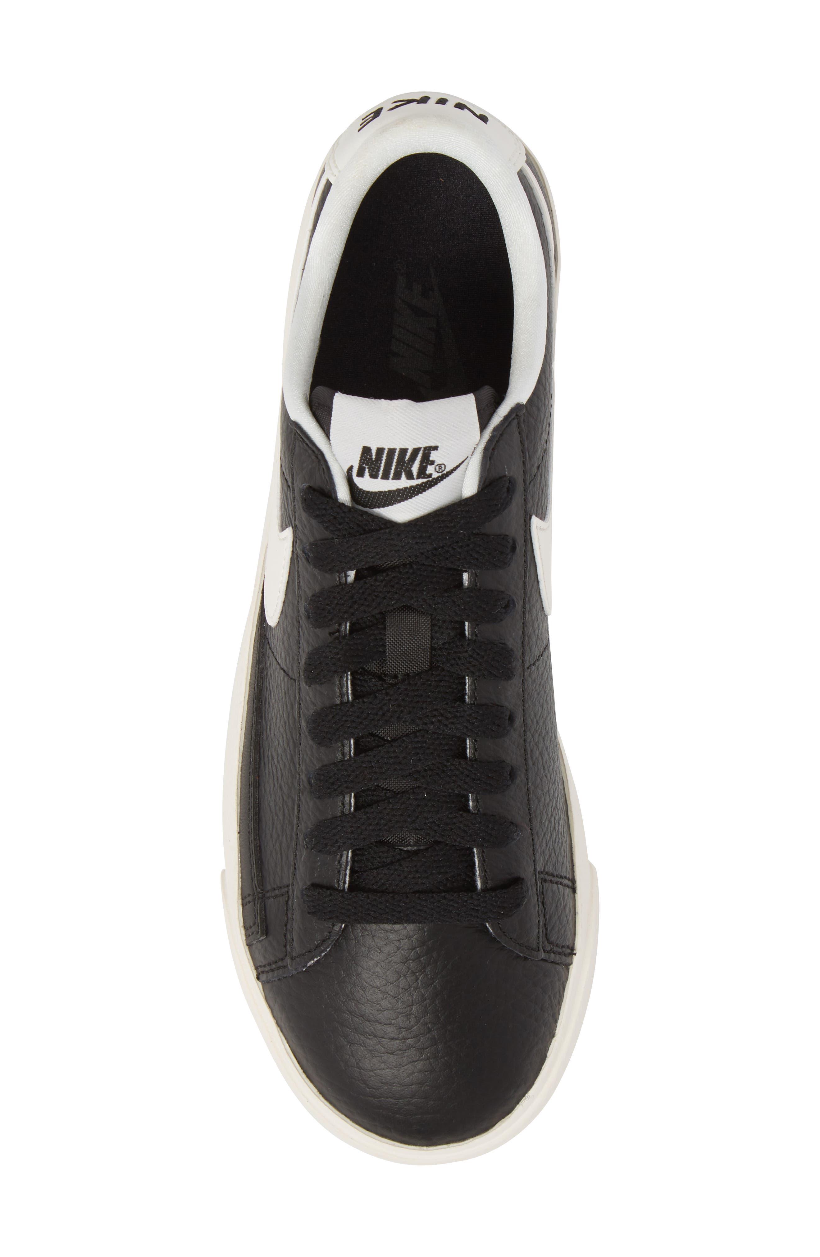 Blazer Premium Low Sneaker,                             Alternate thumbnail 5, color,                             Black/ White/ Black