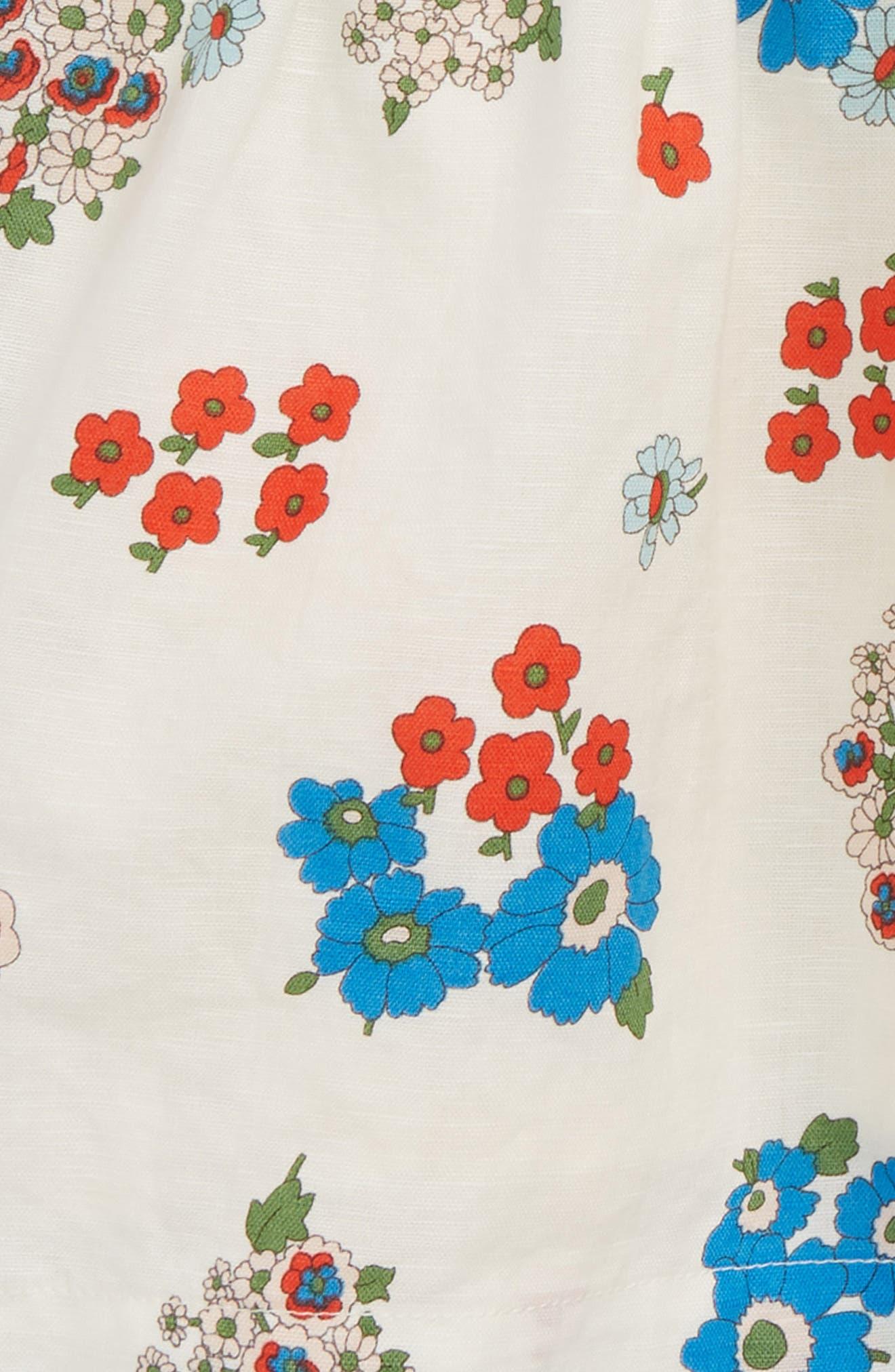Floral Print Dress,                             Alternate thumbnail 2, color,                             Multi Vintage