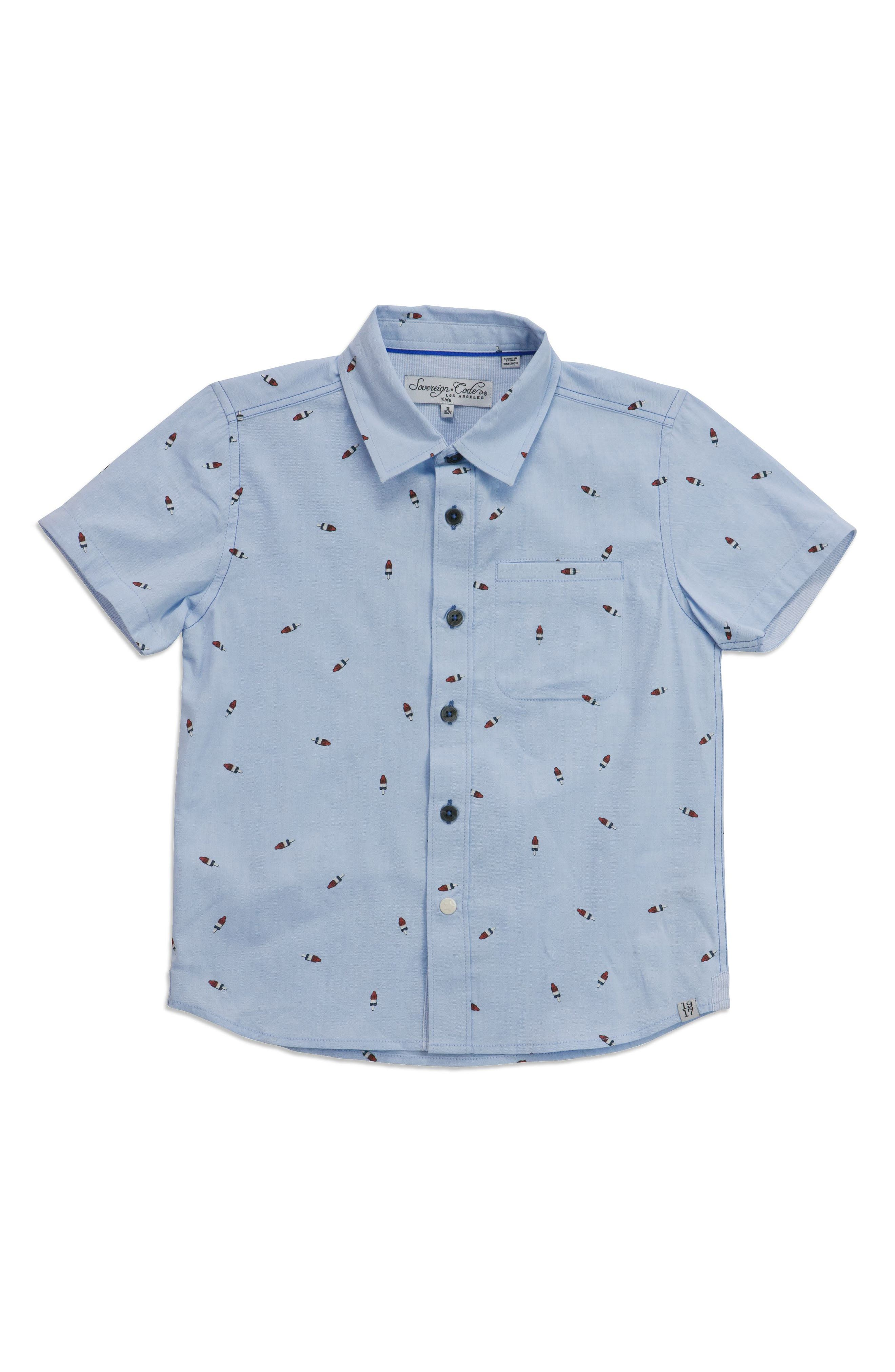 Pismo Bomb Pop Woven Shirt,                             Main thumbnail 1, color,                             Light Blue