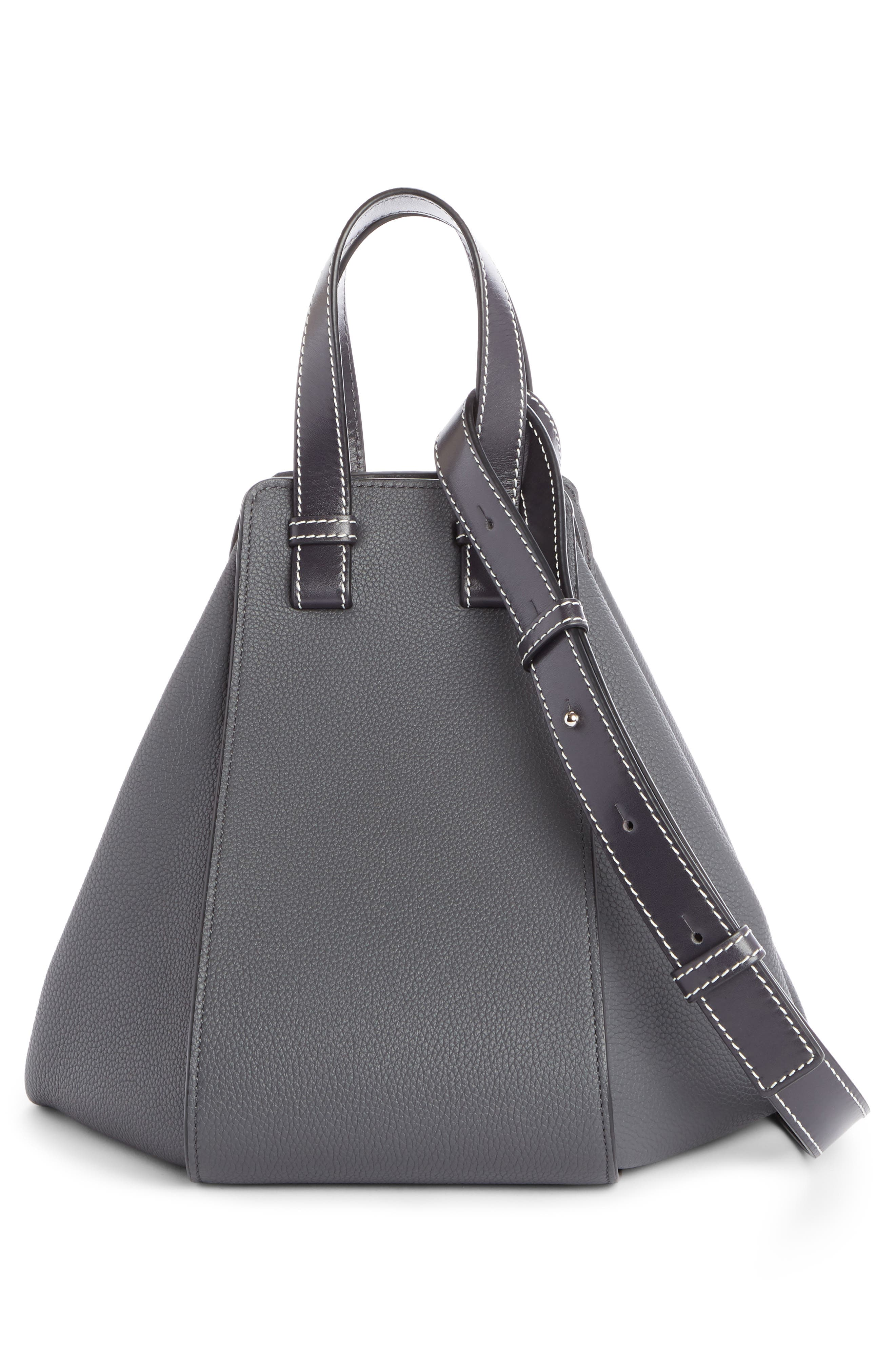 Small Hammock Pebbled Leather Hobo,                             Alternate thumbnail 2, color,                             Anthracite