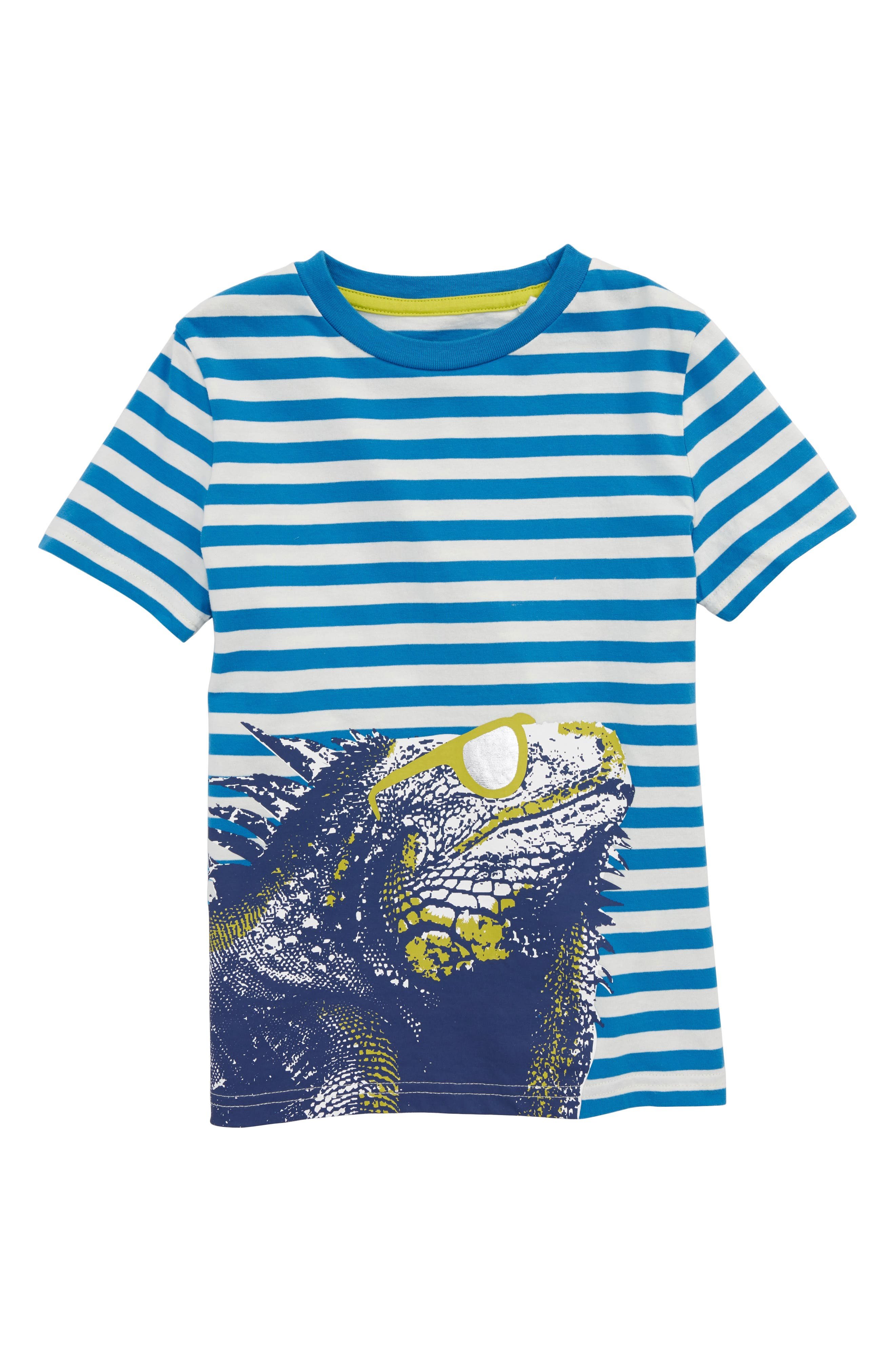 Arty Iguana T-Shirt,                             Main thumbnail 1, color,                             Yogo Blue/ Ecru Iguana