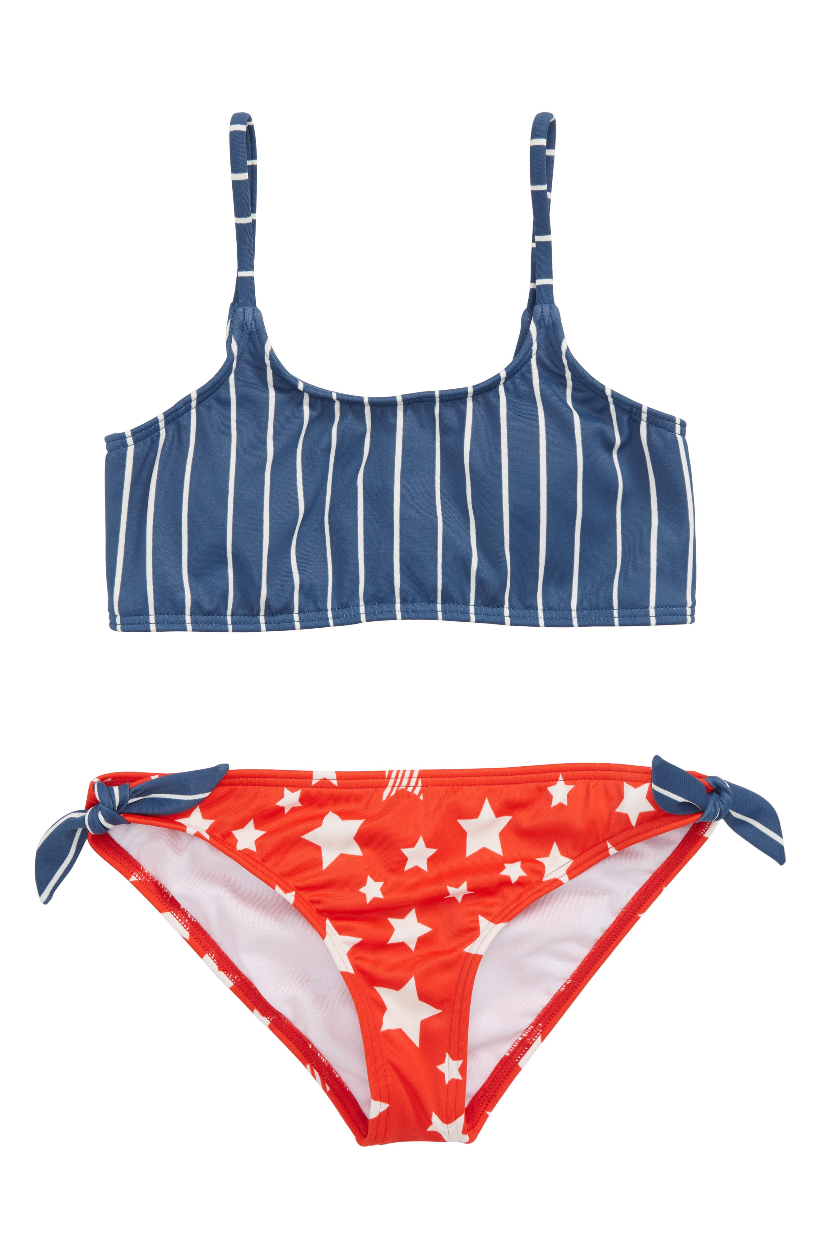 Seein' Stars & Stripes Two-Piece Swimsuit,                             Main thumbnail 1, color,                             Multi