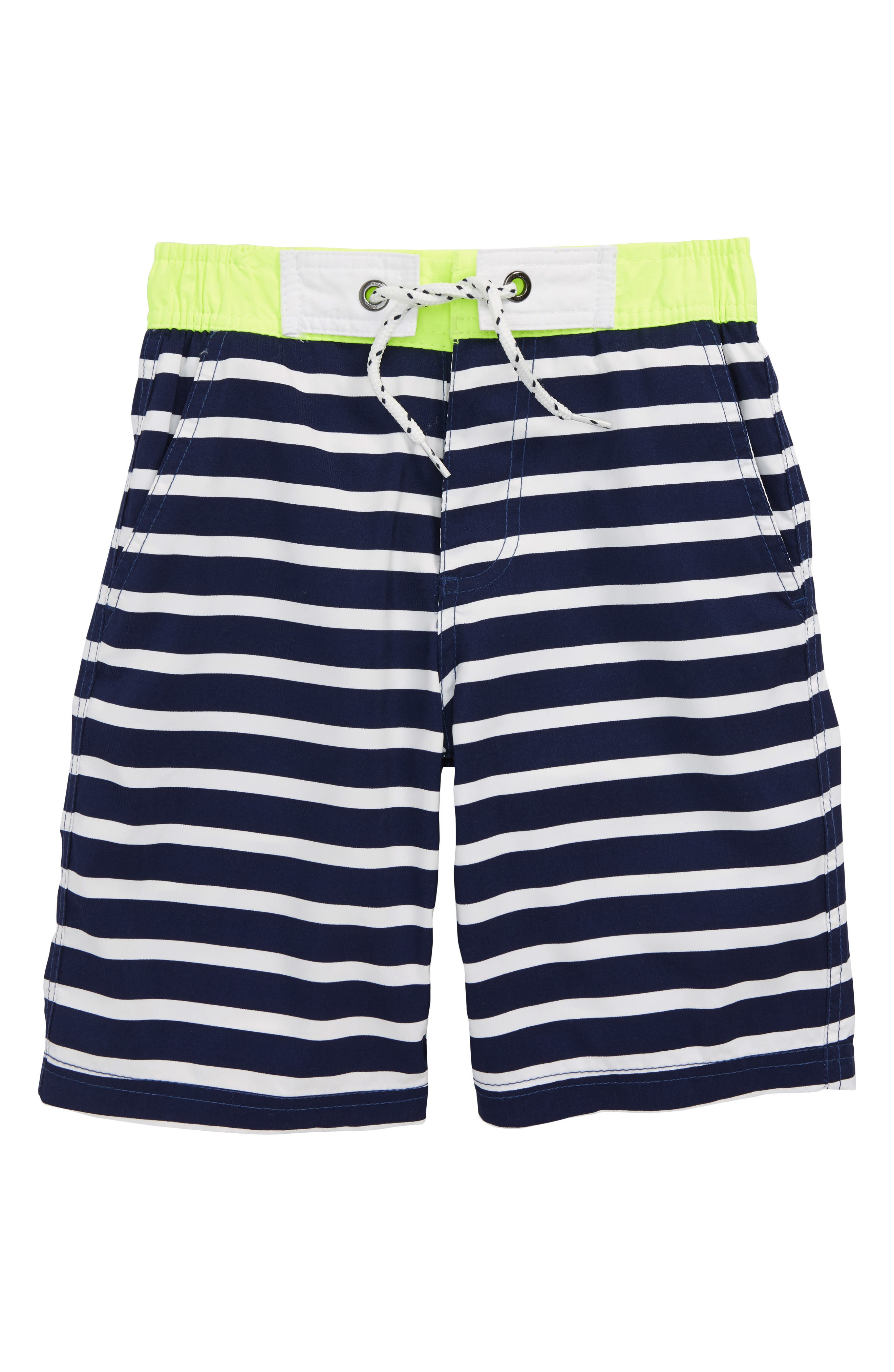 Stripe Board Shorts,                         Main,                         color, Beacon Blue/ Ecru