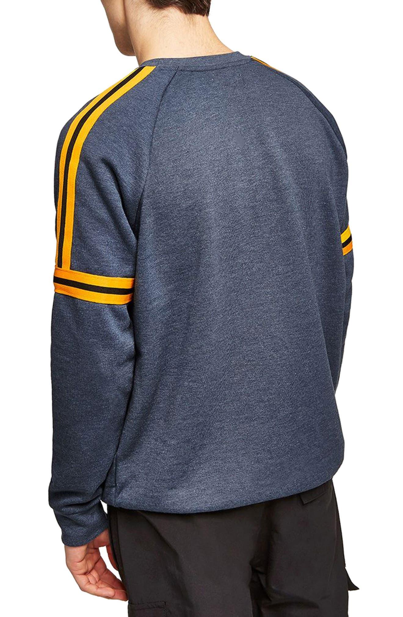 Tape Crewneck Sweatshirt,                             Alternate thumbnail 2, color,                             Dark Blue