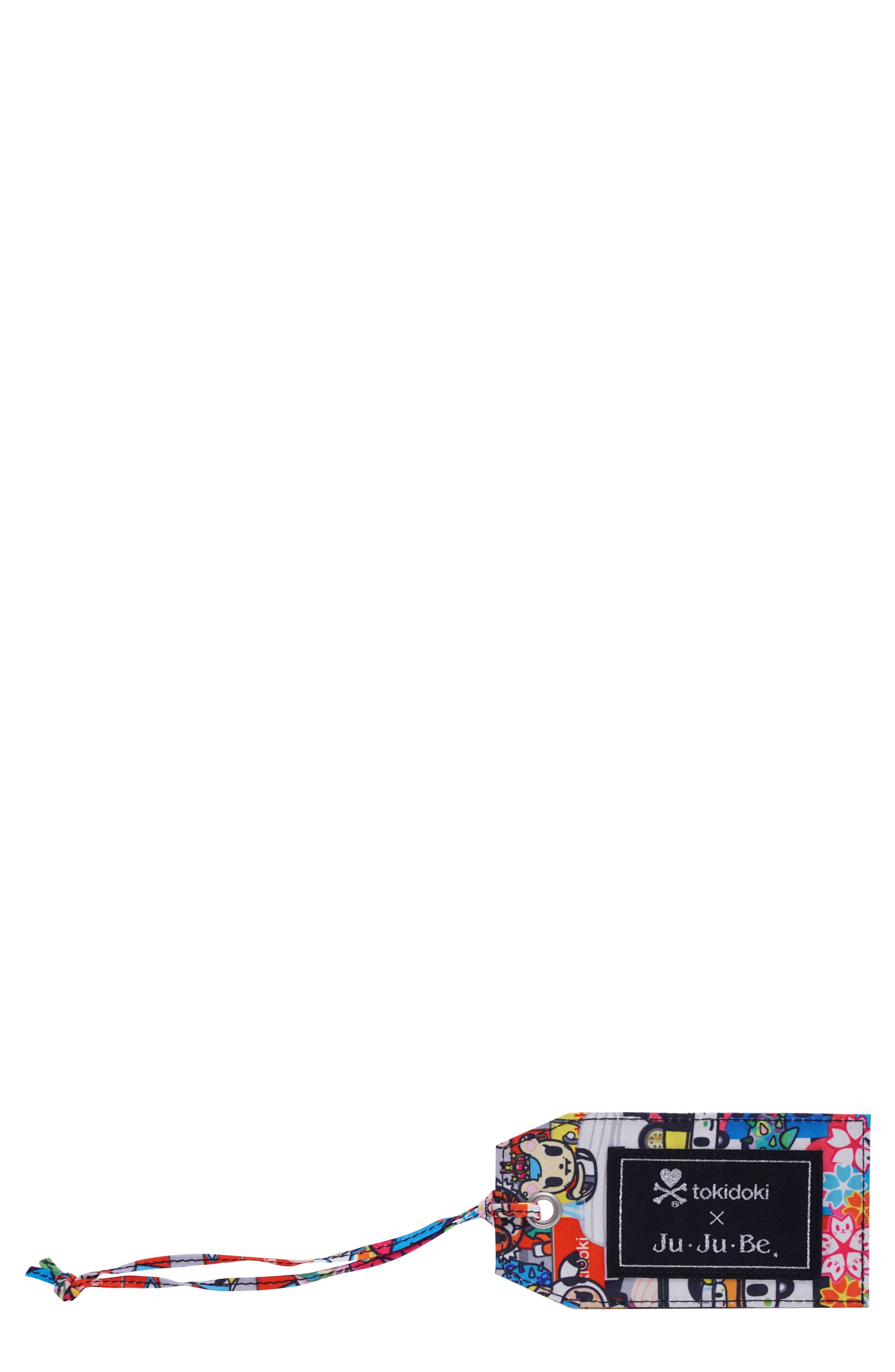 x tokidoki for Hello Sanrio Rainbow Dreams Be Tagged Luggage Tag,                             Main thumbnail 1, color,                             Sushi Cars