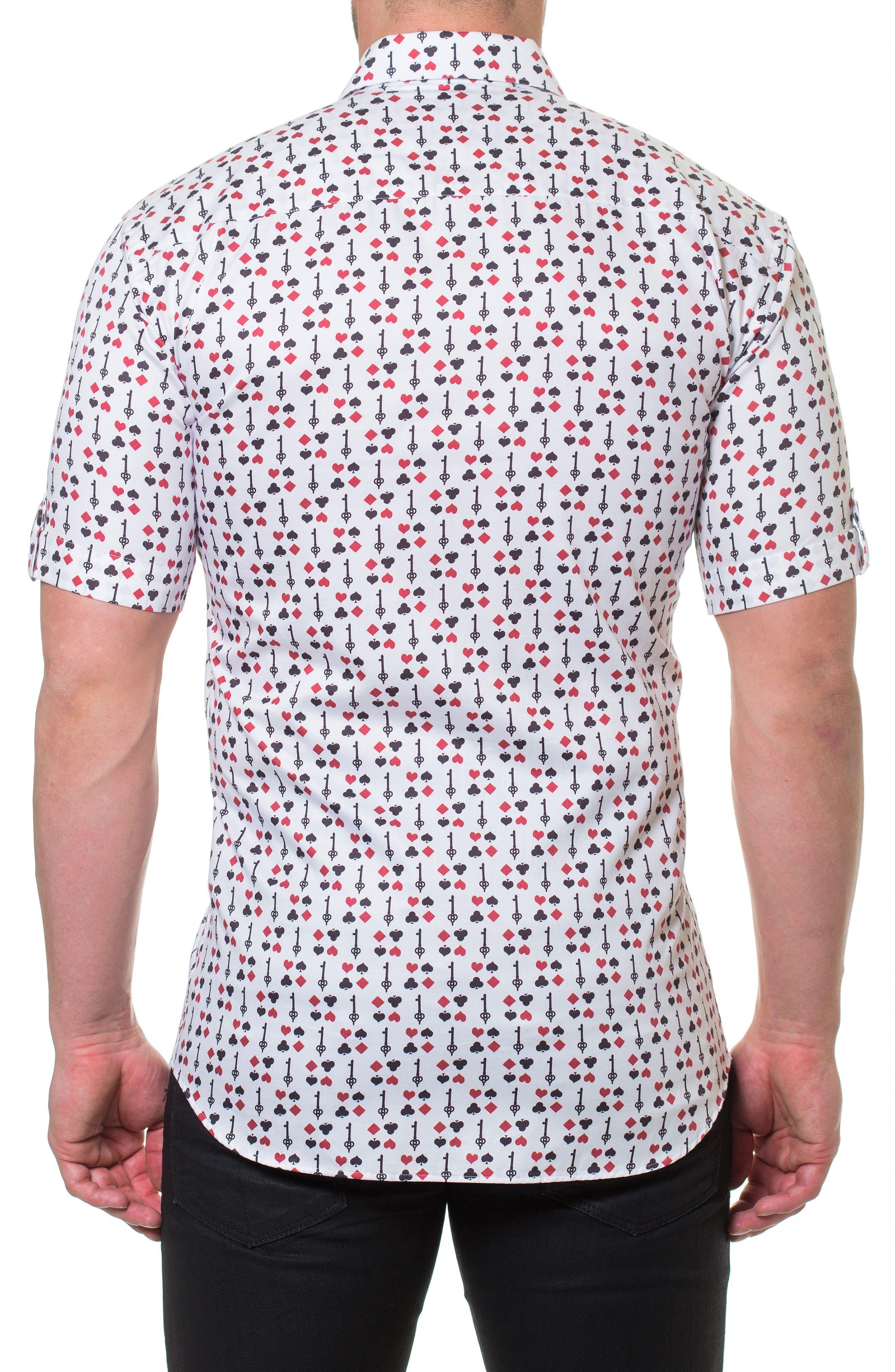 Fresh BlackJack Slim Fit Sport Shirt,                             Alternate thumbnail 2, color,                             White